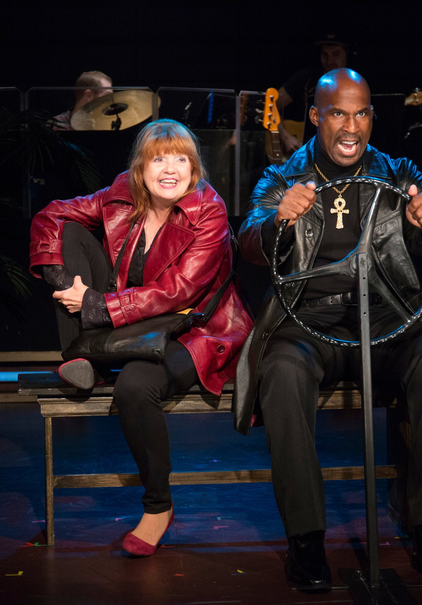 """Annie Golden and Alan H. Green in """"Broadway Bounty Hunter.""""    CreditScott Barrow/Barrington Stage Company"""
