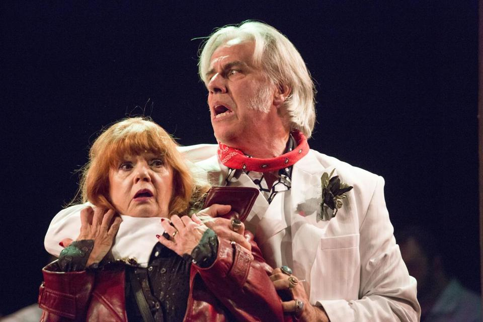 """Annie Golden and Jeff McCarthy in Barrington Stage Company's """"Broadway Bounty Hunter."""""""