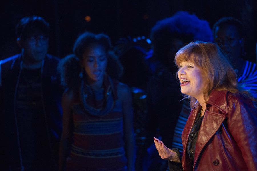 """Annie Golden in """"Broadway Bounty Hunter"""" at Barrington Stage Company. (Photo by Scott Barrow)"""