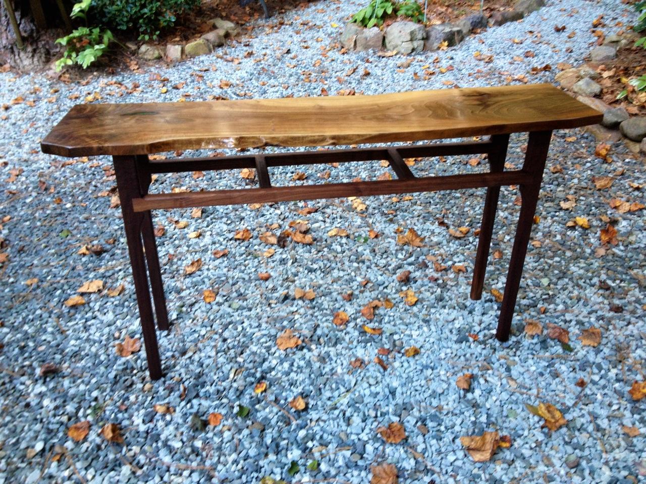 Black Walnut Console Table #2