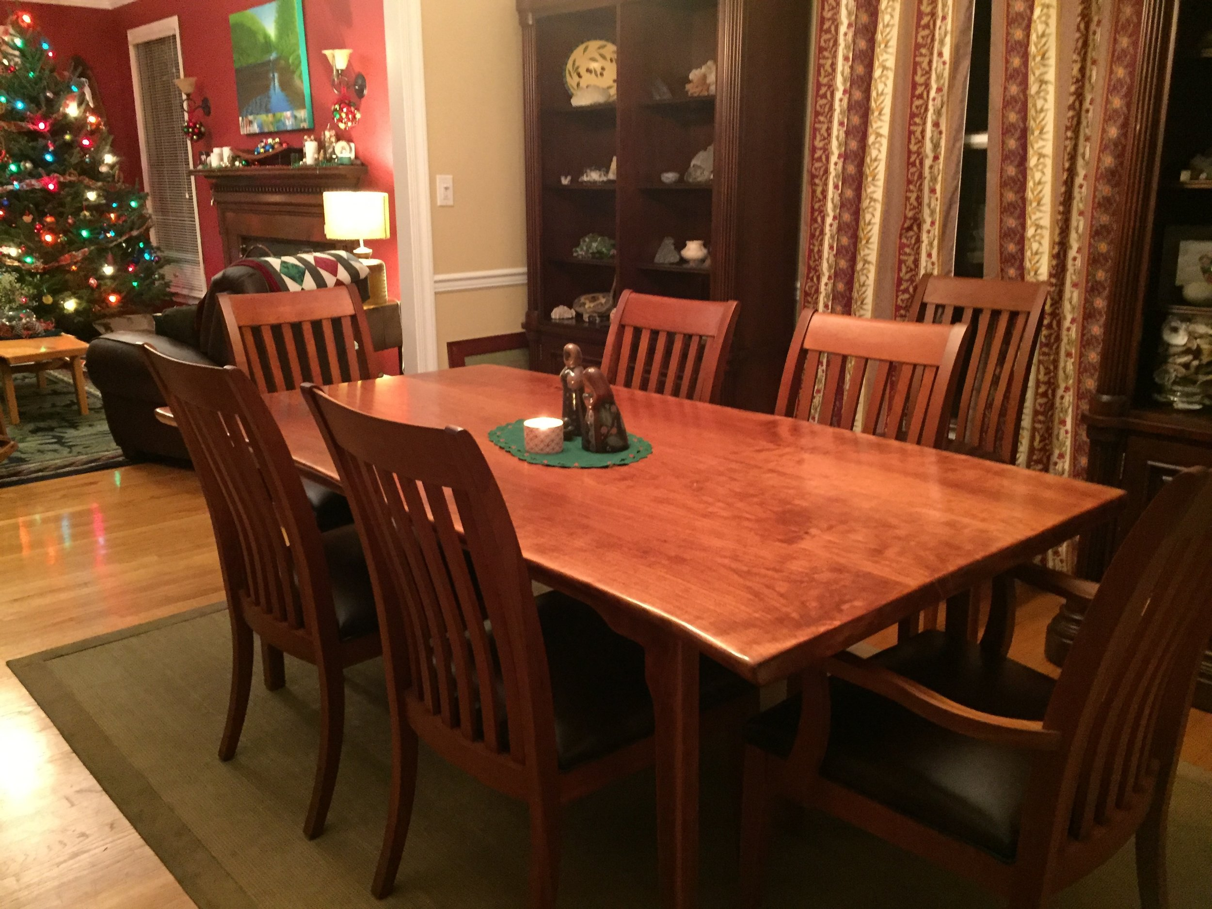 Classic Hardwood Dining Table