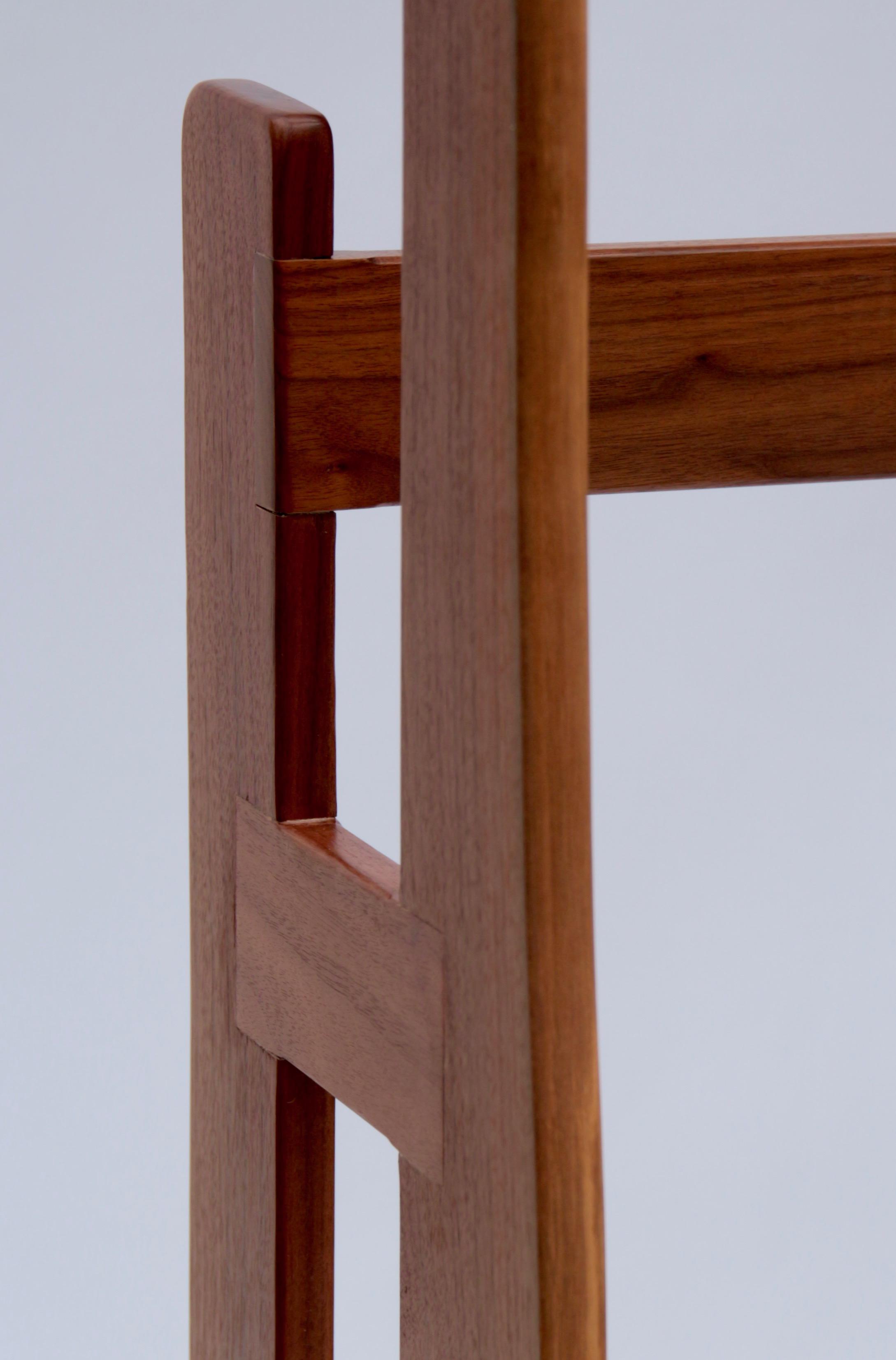 Black Walnut Quilt Rack (detail 2)