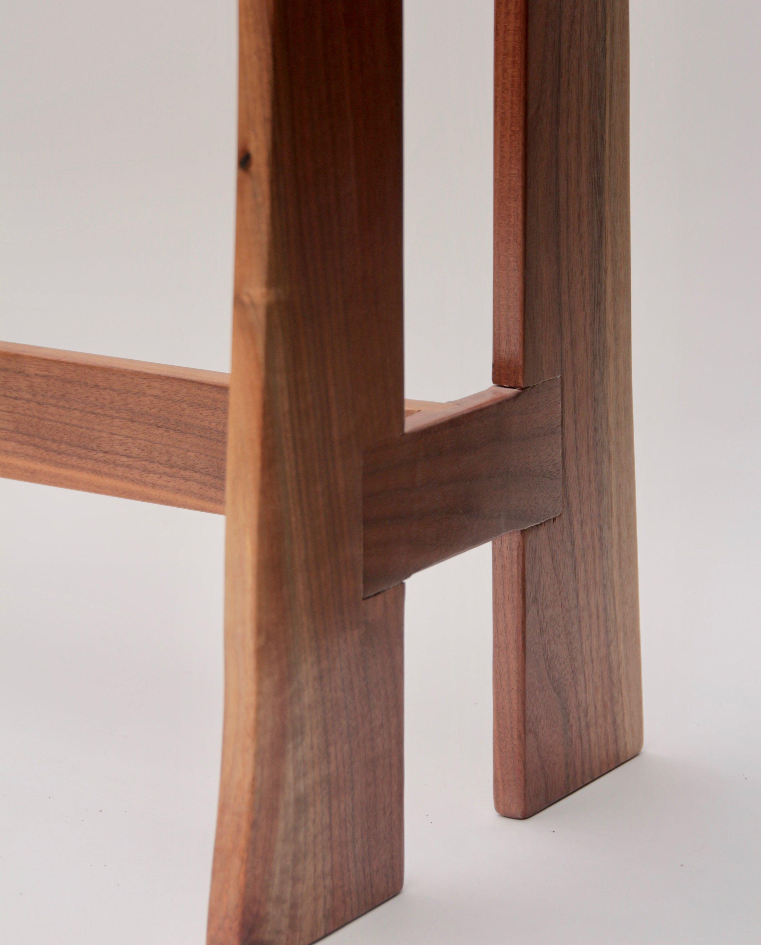 Black Walnut Quilt Rack (detail view)