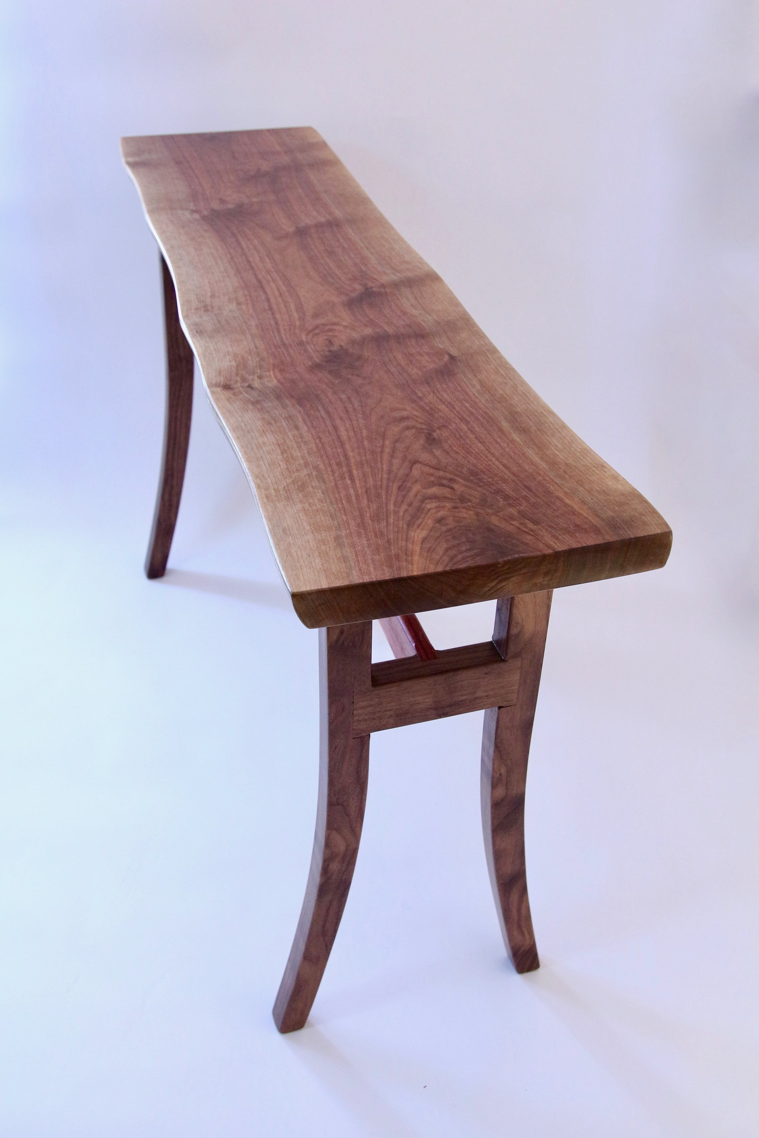 Black Walnut Console Table (top view)