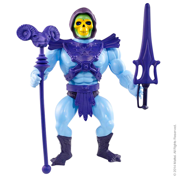 Skeletor began as an action figure, seen here (though this is a very cleaned up version, they didn't typically have this great of a paint job, truth be told).