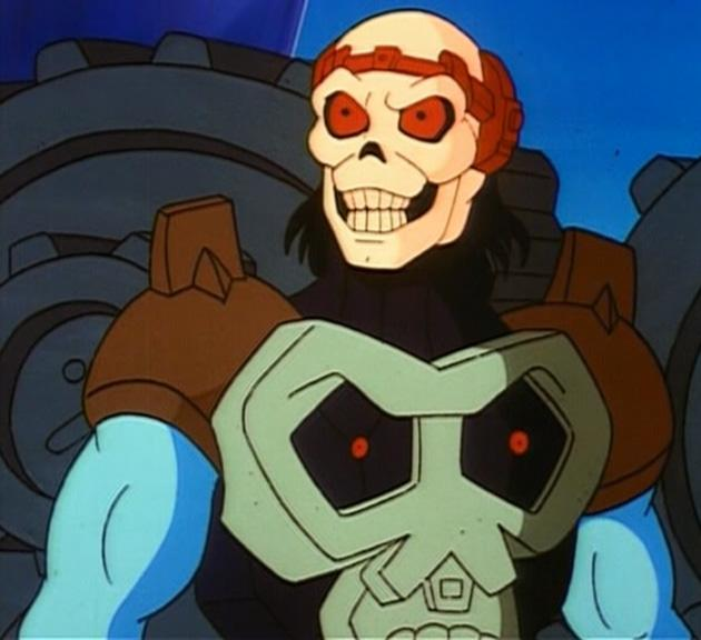 Here is the short-lived (FOR GOOD REASON) New Adventures of He-Man. I like to pretend this Skeletor never existed, and for most people, he didn't.