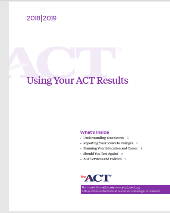 Using Your ACT Results