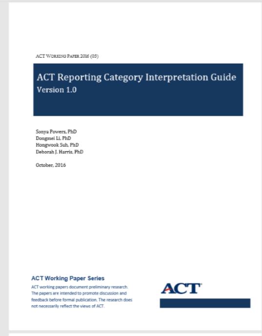 Reporting Category Interpretation Guide