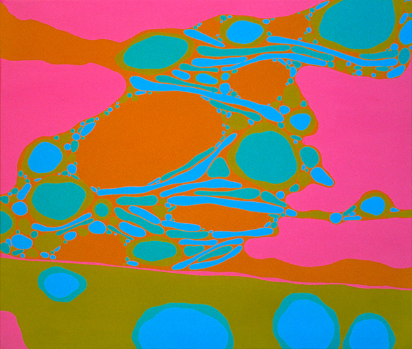 "Inscape,  acrylic on canvas, 36"" x 42,"" 1967"