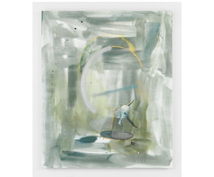 "ROSY KEYSER  Cataract Periscope , 2016, oil on canvas, 48"" x 41"""
