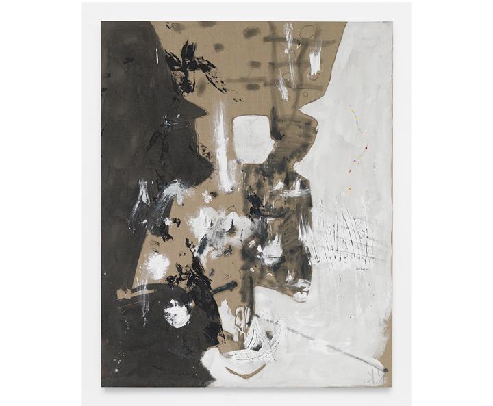 """ROSY KEYSER  Hinge Spigot , 2016, oil on linen, 88"""" x 70"""""""