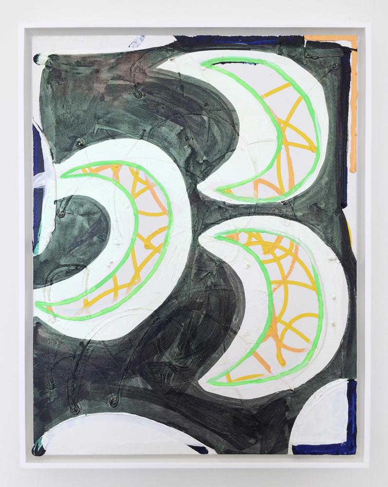 "Moons , 2014. acrylic on canvas, 24"" x 18"