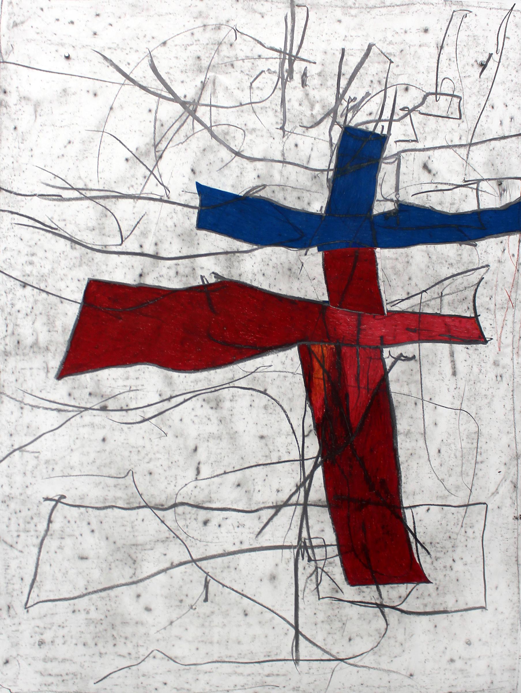 "JOSEPH HART   Ballad II , 2016, oil crayon and graphite on paper , 54"" x 42"""