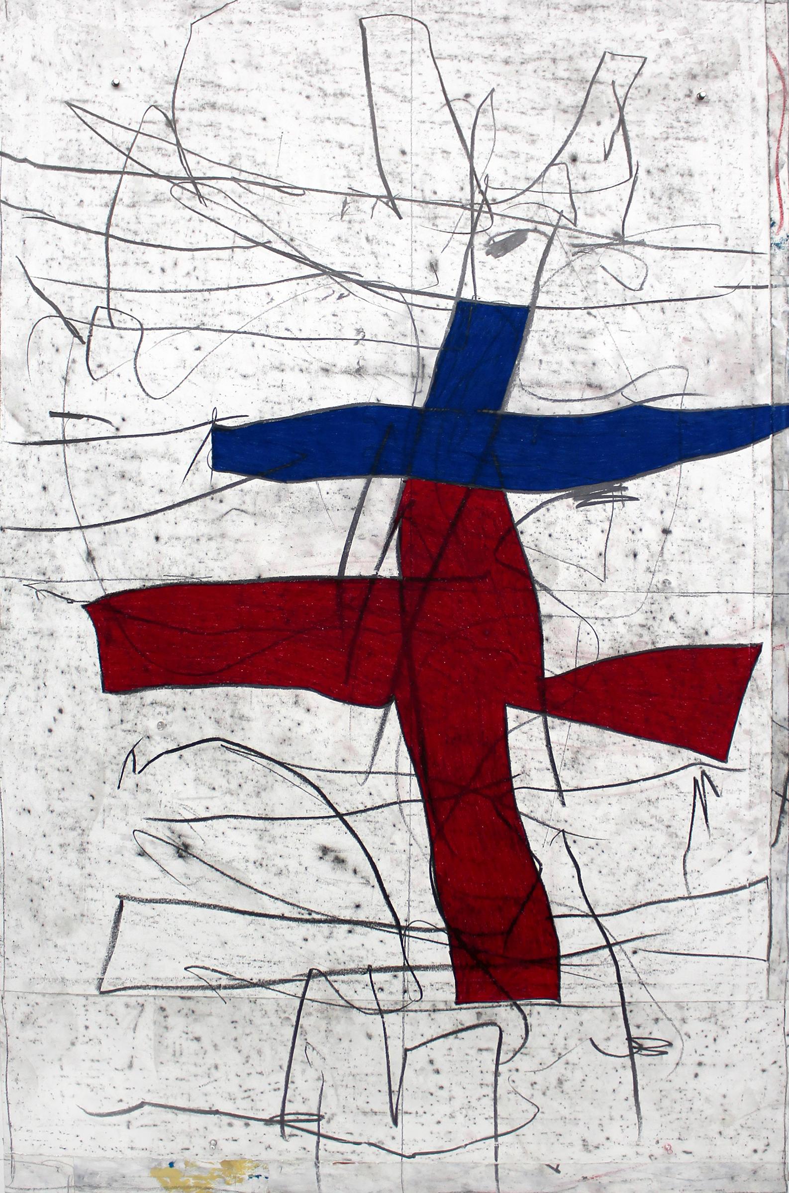 "JOSEPH HART   Ballad I , 2016, oil crayon and graphite on paper, 63"" x 43"""