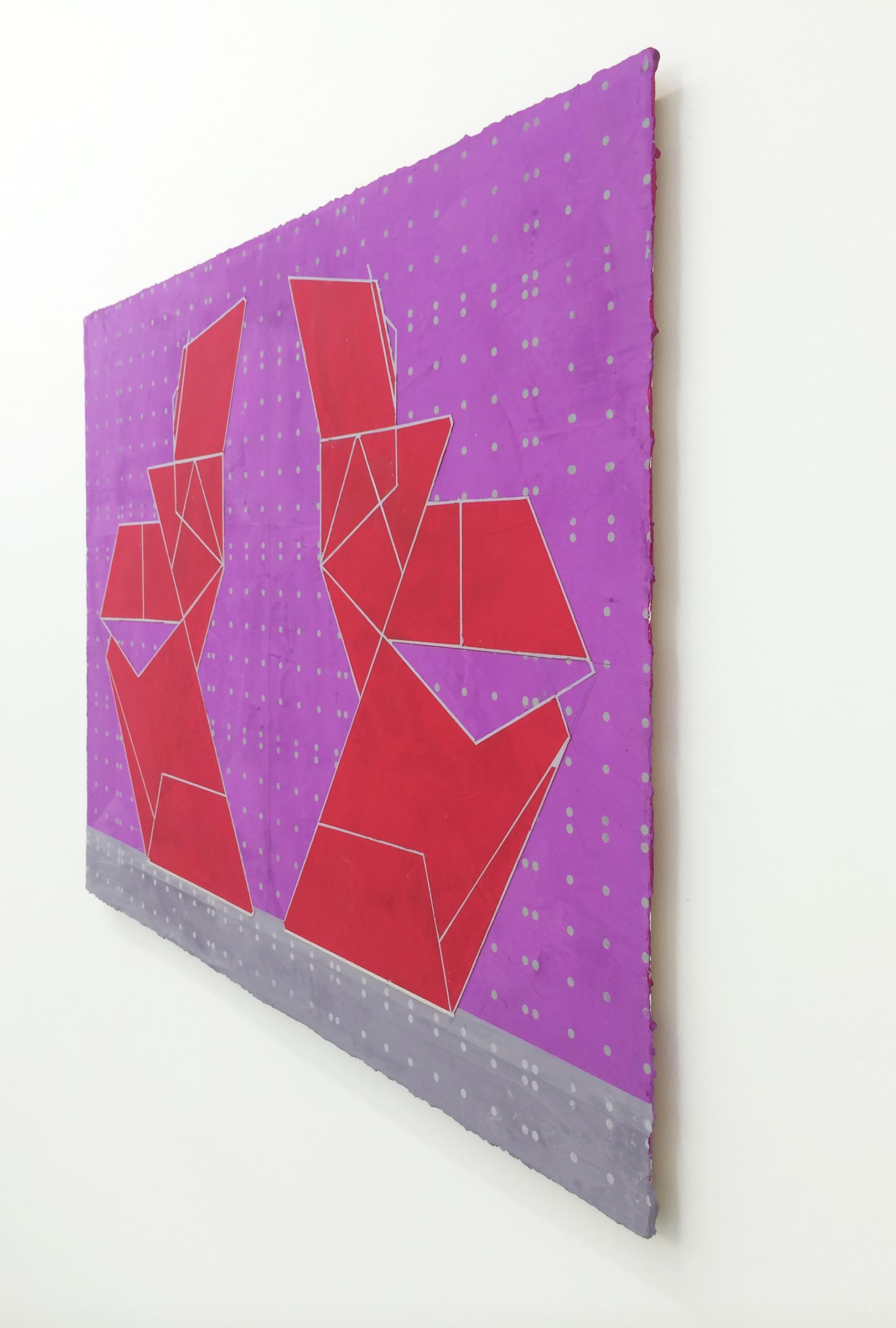 "ELISE FERGUSON  (profile) Tropic , 2016, pigmented plaster on panel, 30"" x 40"""