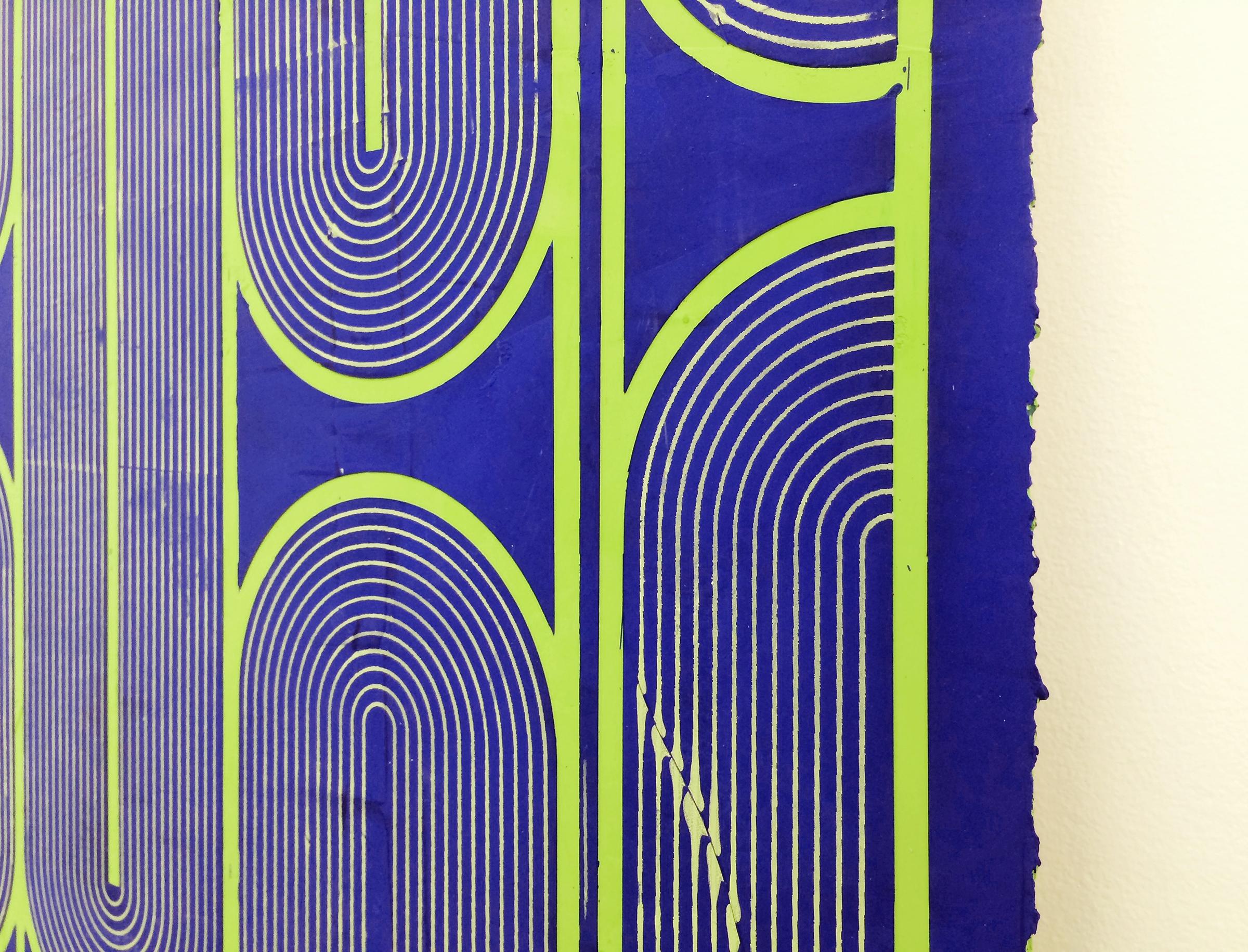 """ELISE FERGUSON  (detail) Vinyl Gate , 2016, pigmented plaster on panel, 30"""" x 40"""""""