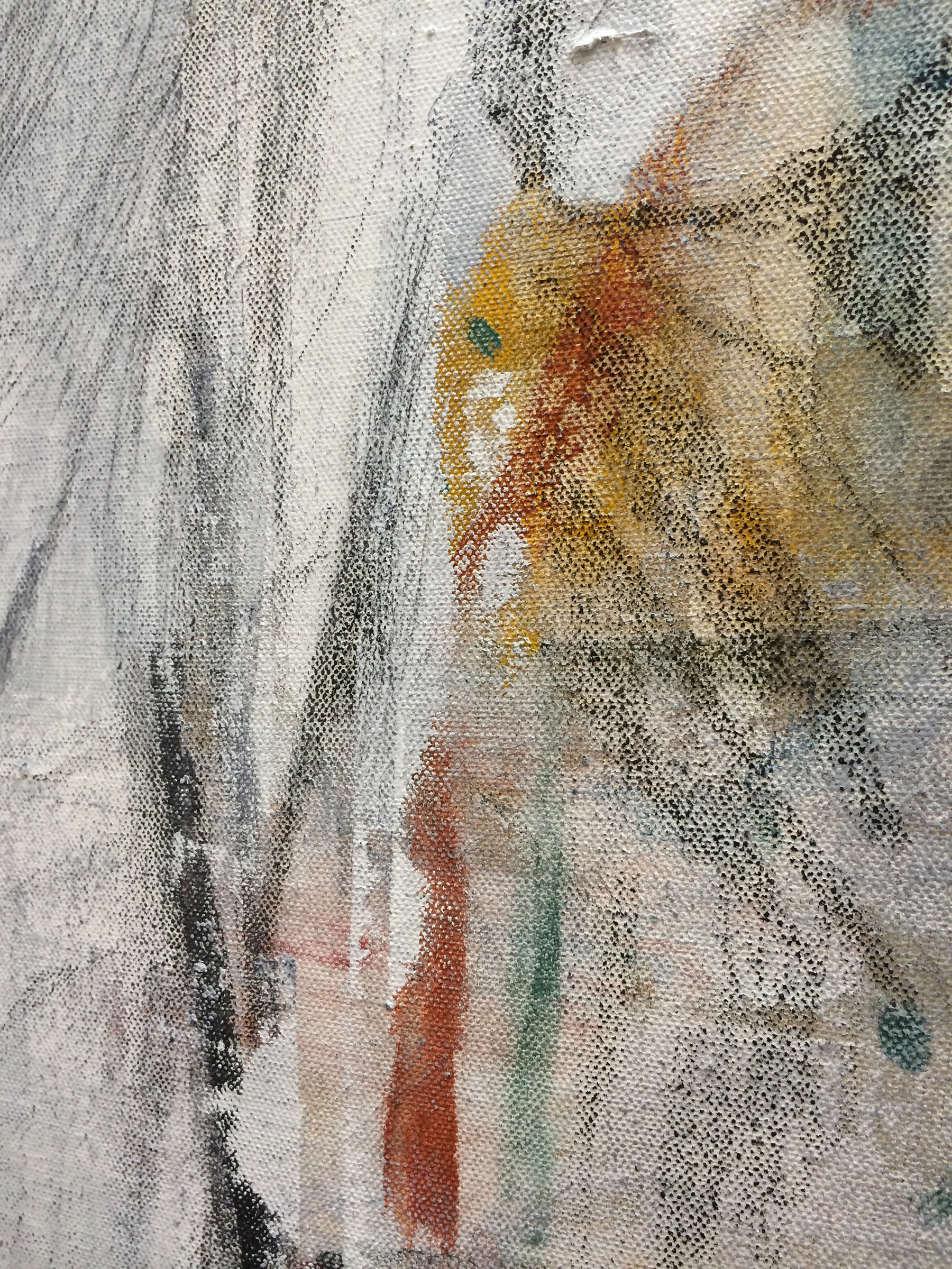 """TED GAHL  (detail) Mosquito , 2015, oil, acrylic, graphite and colord pencil on canvas, 36"""" x 24"""""""