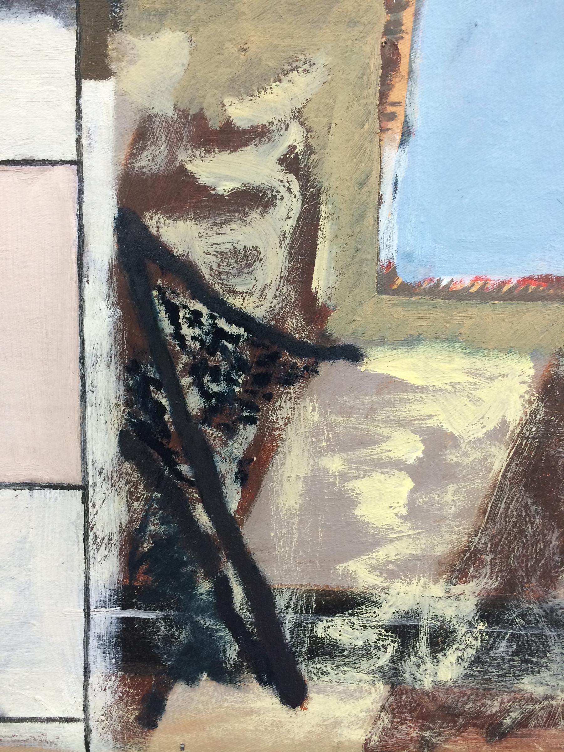 """CHRISTOPH ROßNER  (detail) Haufen (Pile) , 2014, oil and acrylic on canvas, 46.5"""" x 35.5"""""""