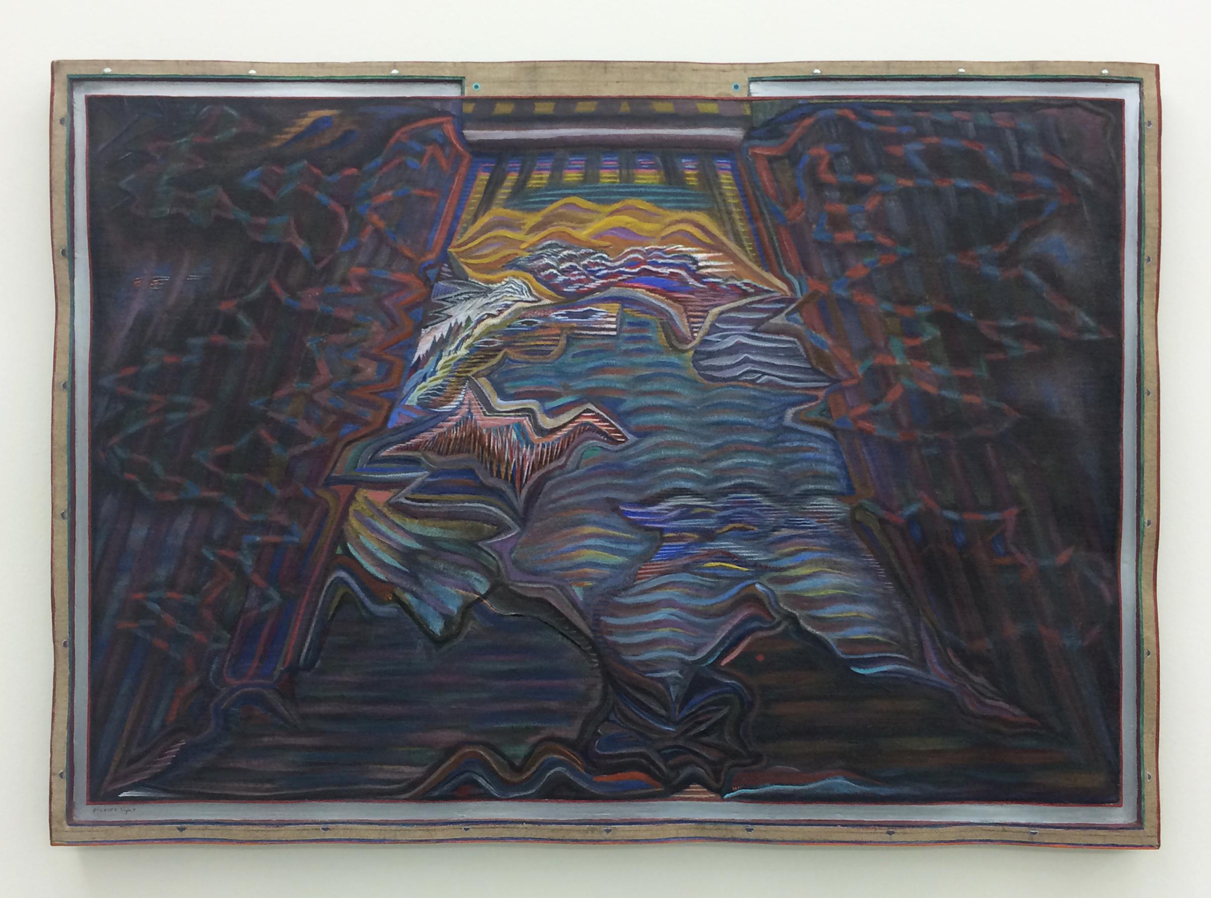 "ZACH HARRIS   Picture Light , 2009-2013, water based paint, wood, linen, 21.75"" x 30.25"""