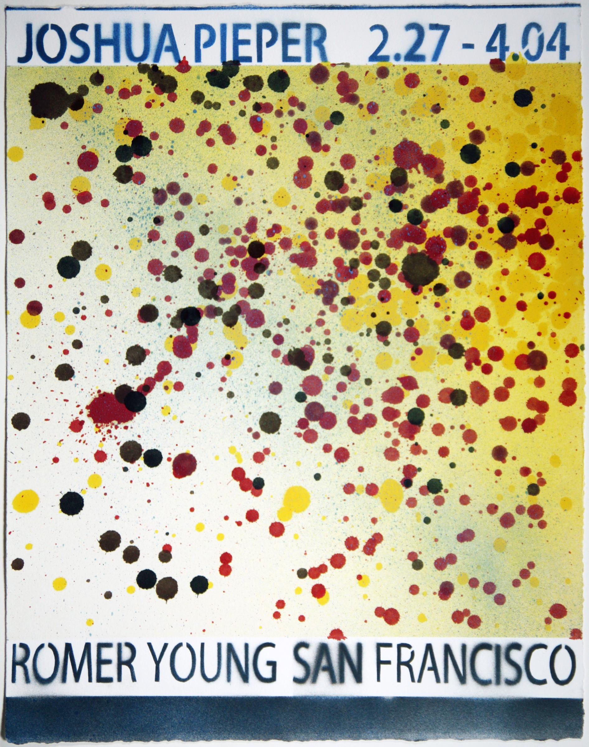 """JOSHUA PIEPER   Poster 8 , 2015, spray enamel on cotton rag with frame, 21"""" x 17"""""""