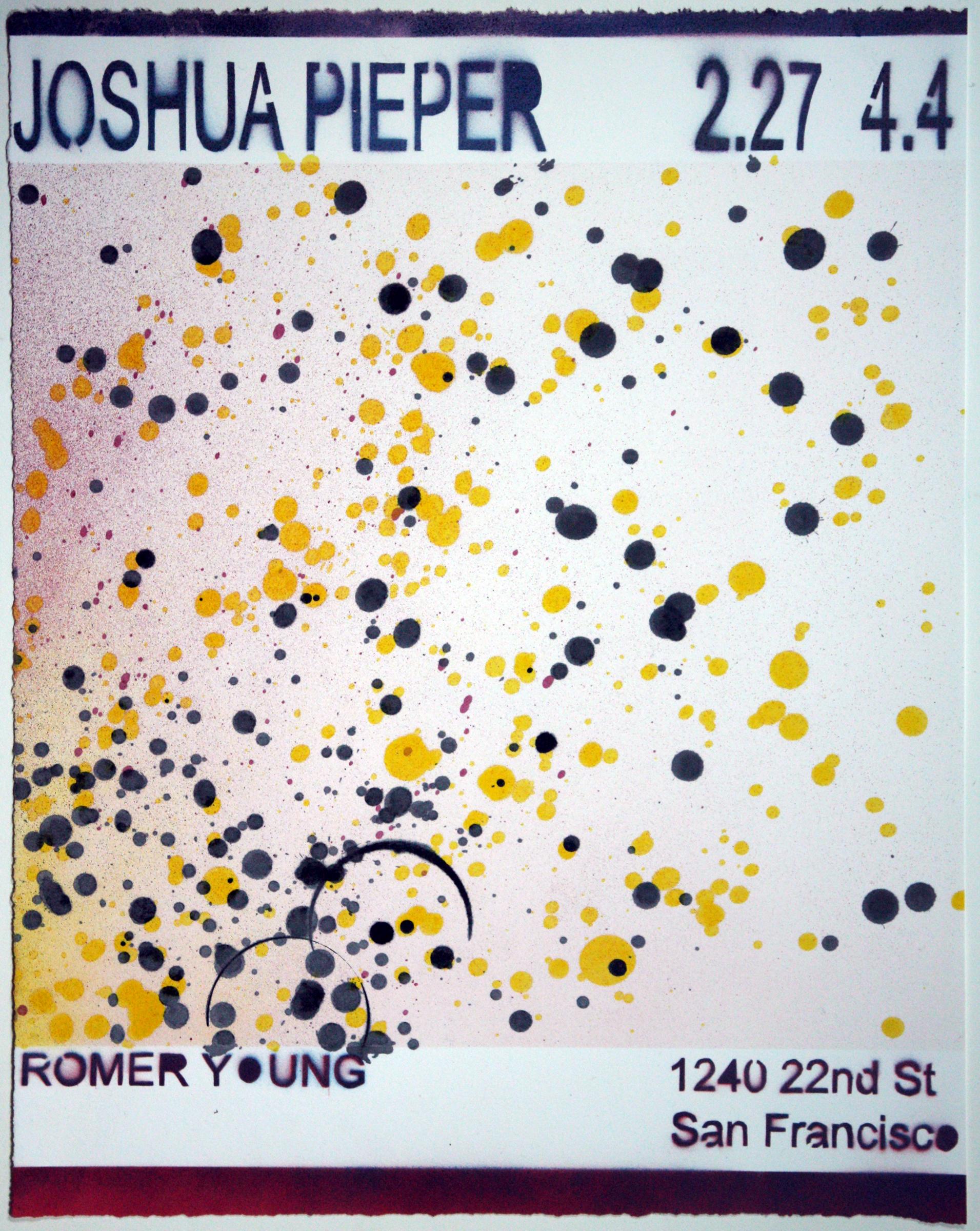 """JOSHUA PIEPER   Poster 9 , 2015, spray enamel on cotton rag with frame, 21"""" x 17"""""""