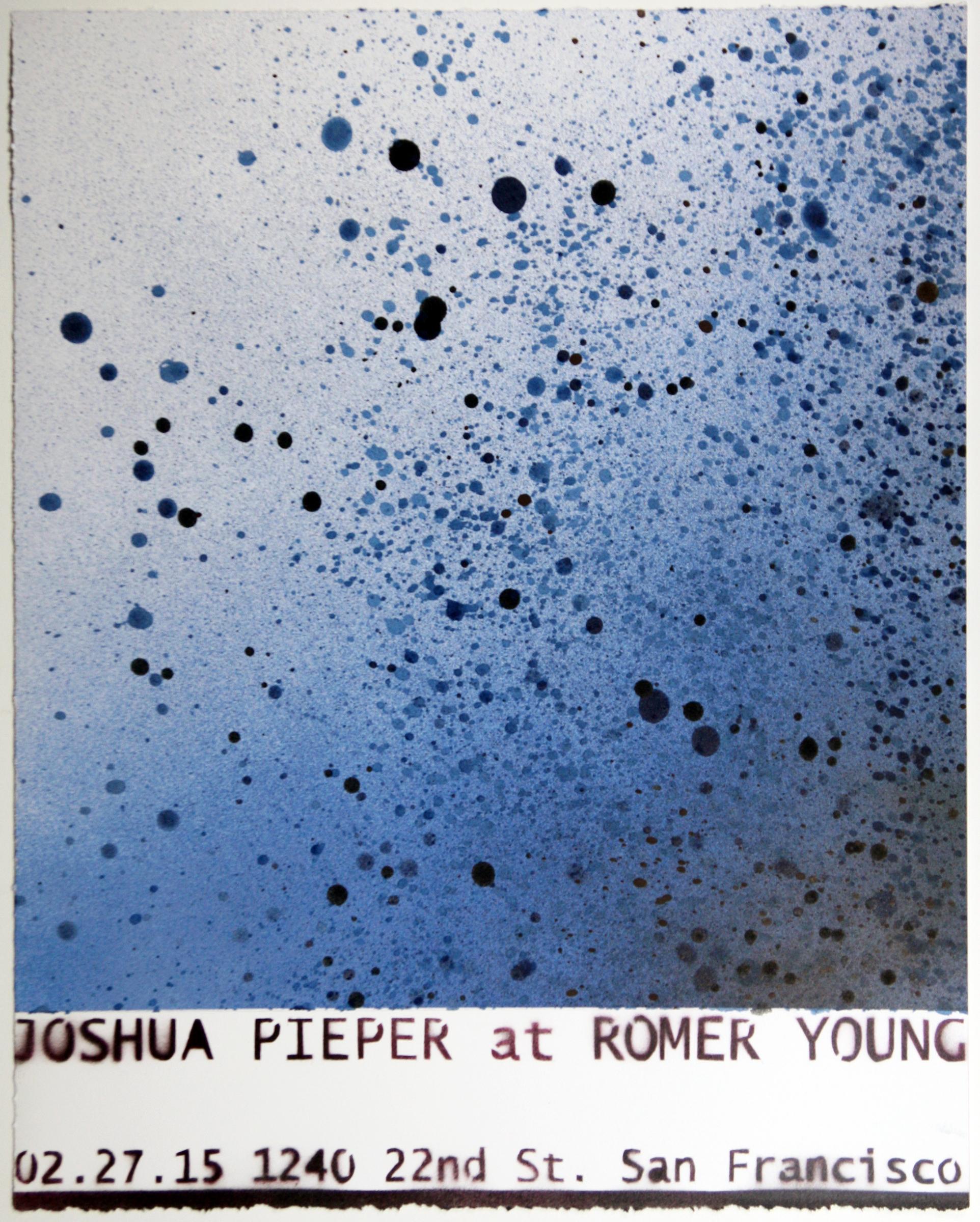"""JOSHUA PIEPER   Poster 1 , 2015, spray enamel on cotton rag with frame, 21"""" x 17"""""""