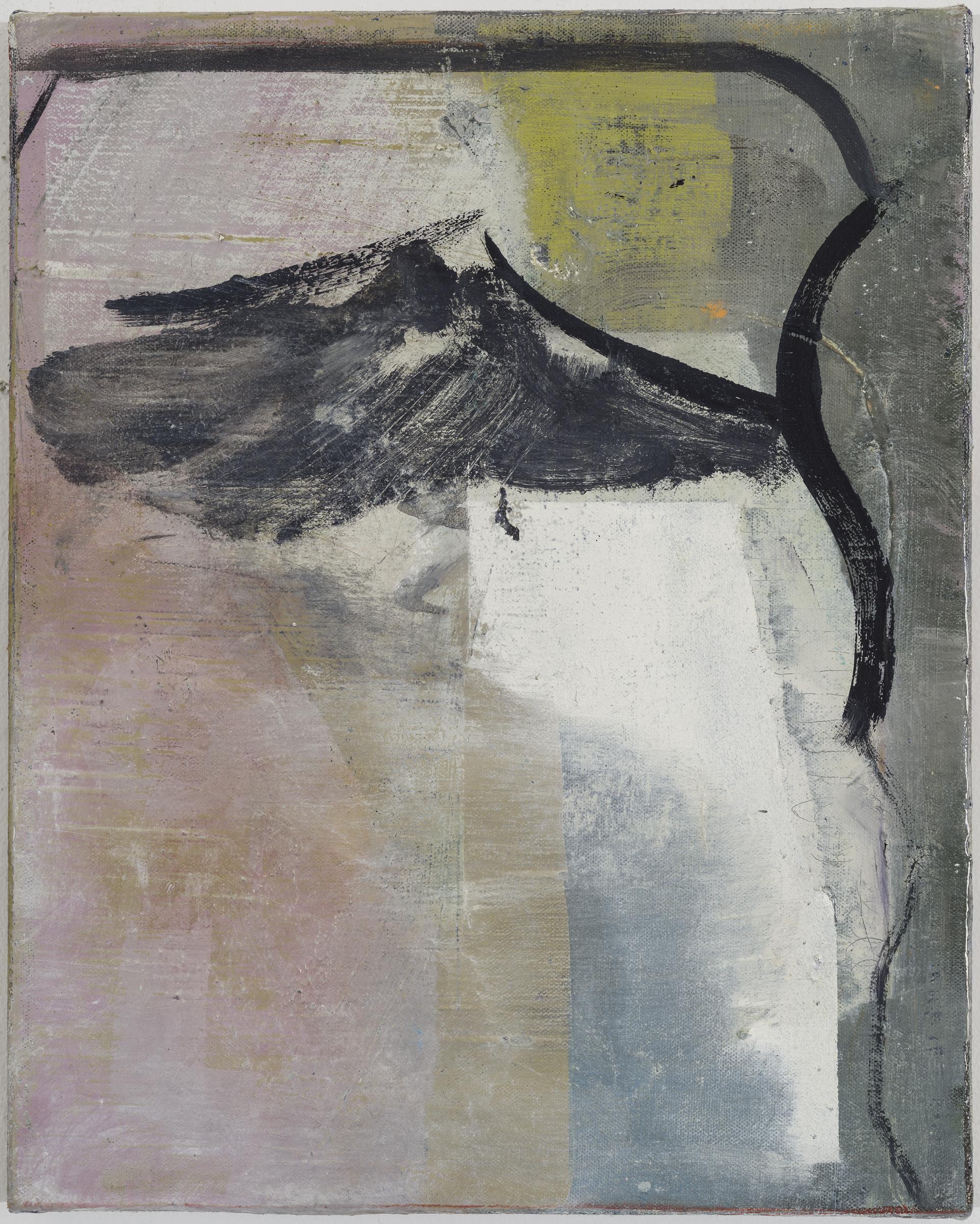 "JEAN-FRANÇOIS LAUDA   f.6 , 2015, oil on canvas, 15"" x 12"""