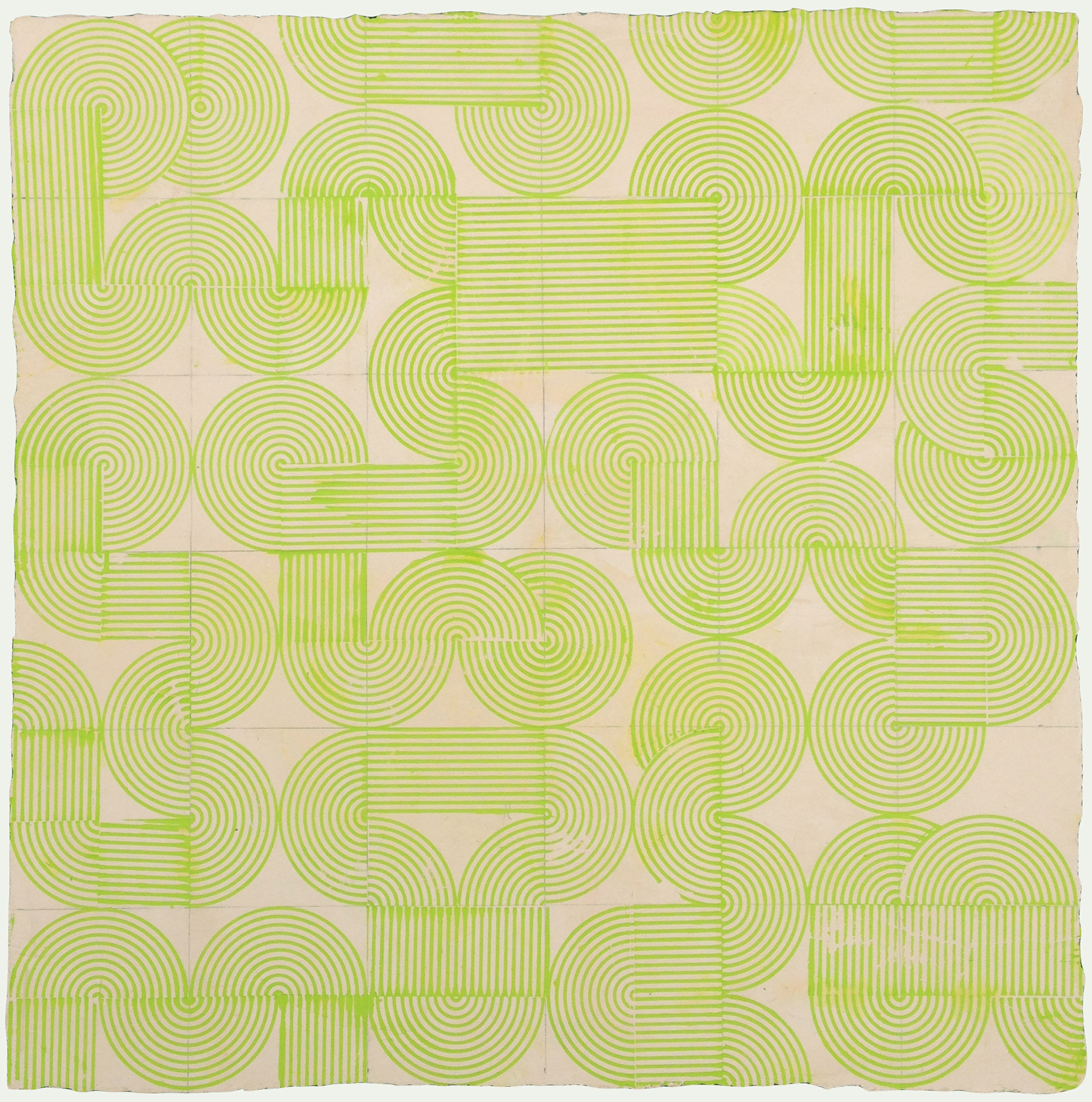 "ELISE FERGUSON   Dial It , pigmented plaster on MDF panel, 24"" x 24"", 2014"