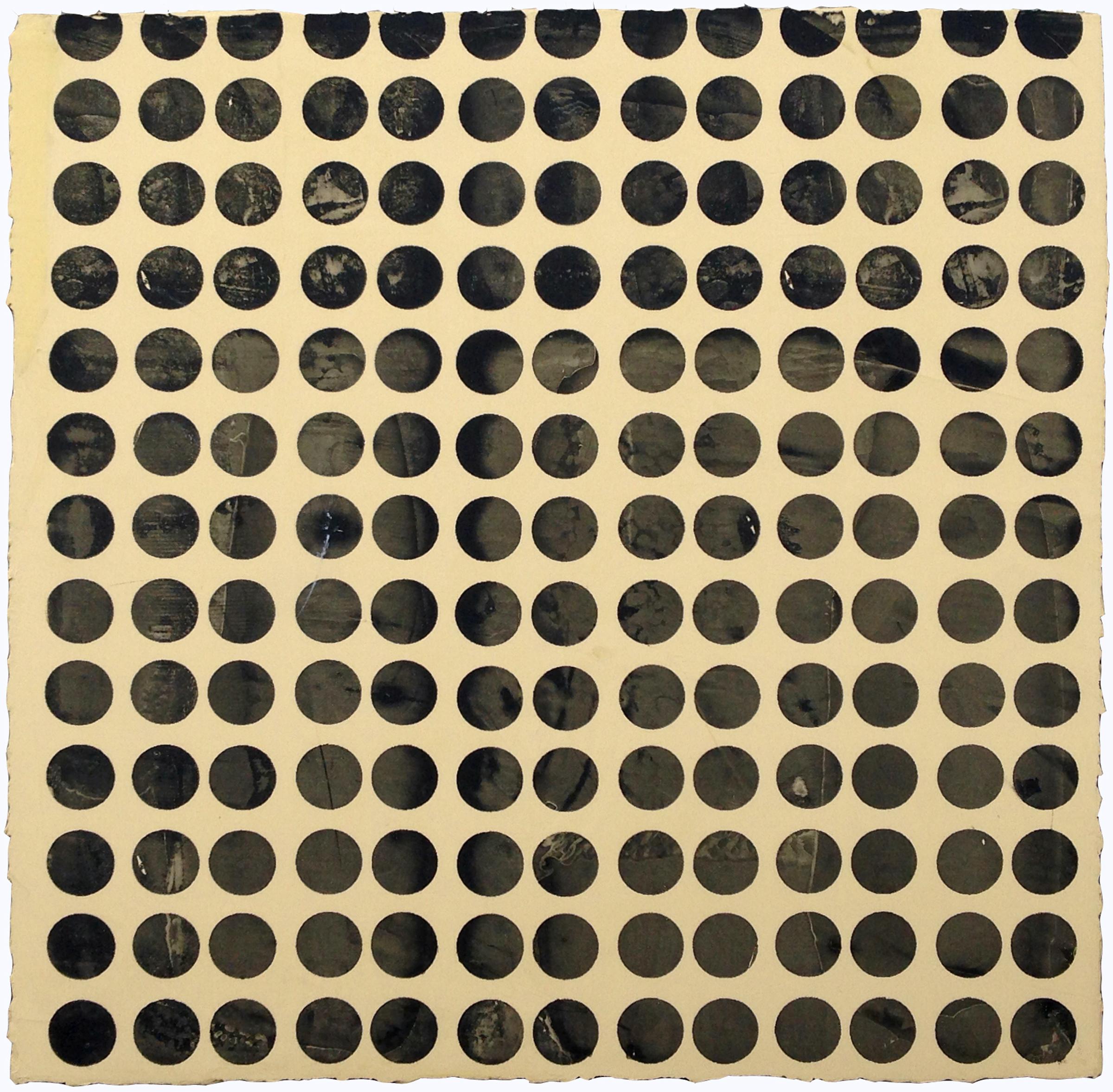 "ELISE FERGUSON   Mirage , pigmented plaster on MDF panel, 18"" x 18"", 2014"