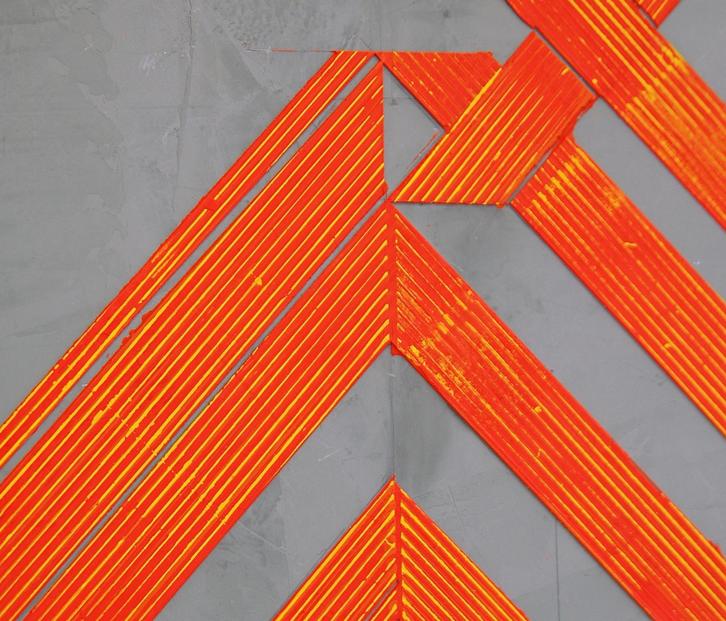 """ELISE FERGUSON  (detail) N V V , pigmented plaster on MDF panel, 30"""" x 30"""", 2014"""