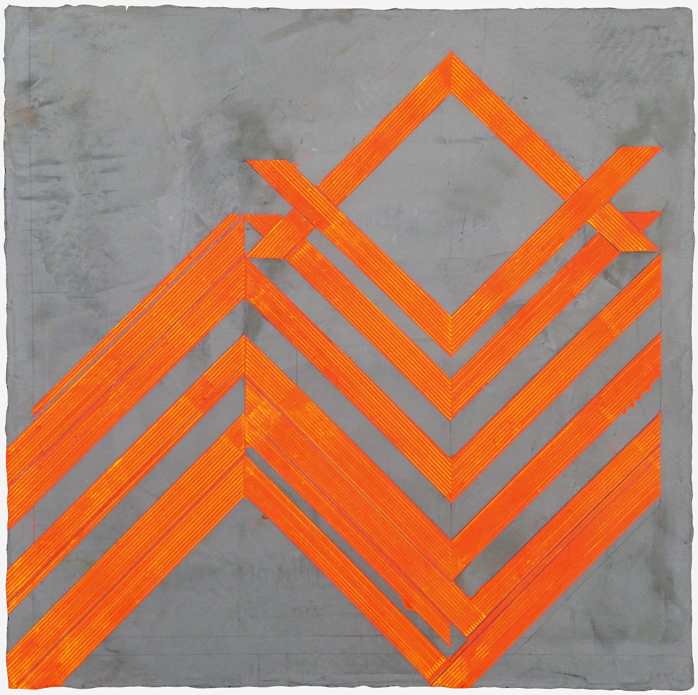 """ELISE FERGUSON   N V V , pigmented plaster on MDF panel, 30"""" x 30"""", 2014"""