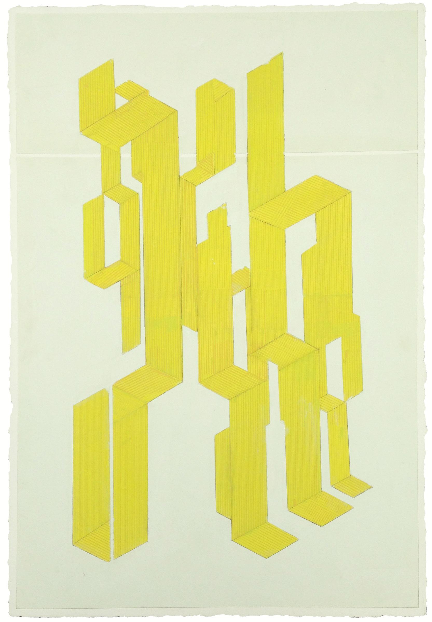 "ELISE FERGUSON   Table , pigmented plaster on MDF panel, 36"" x 24"", 2014"