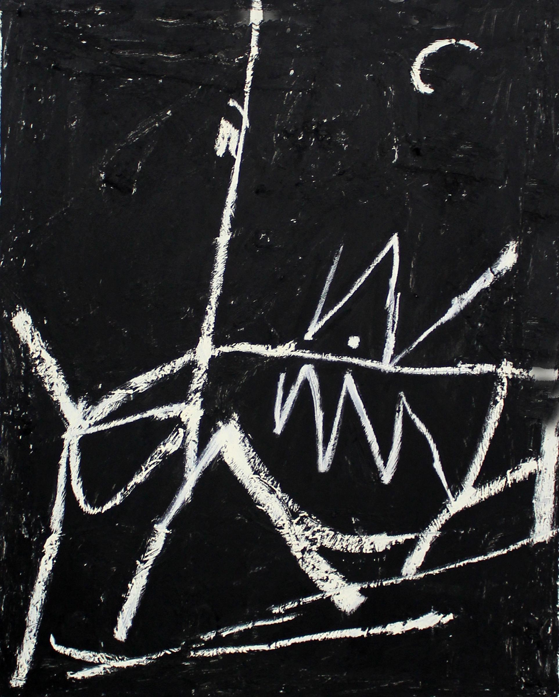 "JOSEPH HART   Untitled (Zig Zag) , oil on canvas, 28"" x 22"", 2012"