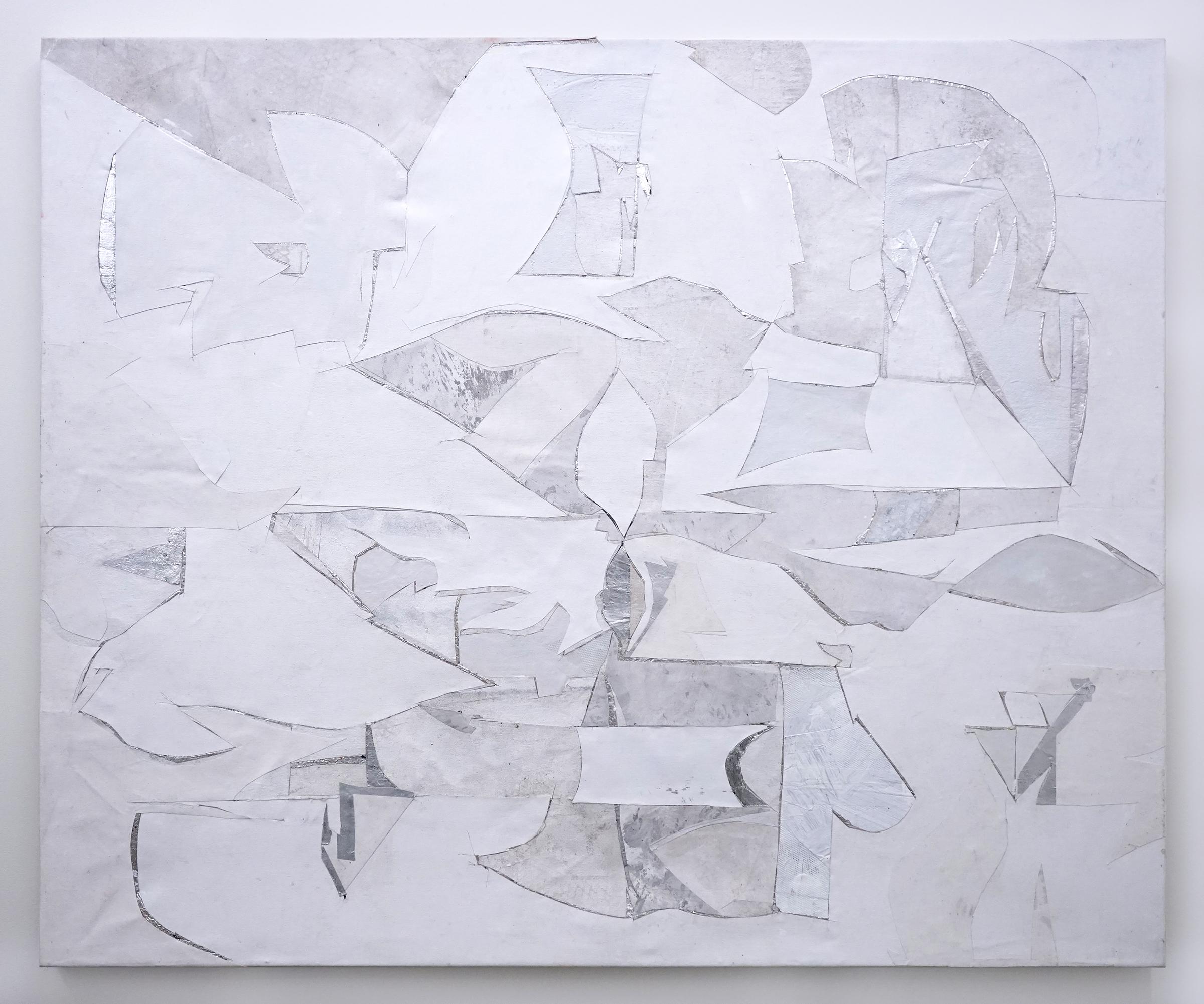 """RYAN WALLACE   Lenakaeia 2 , enamel, acrylic, canvas, linen, aluminum, fiberglass, 48"""" x 58"""", 2017"""