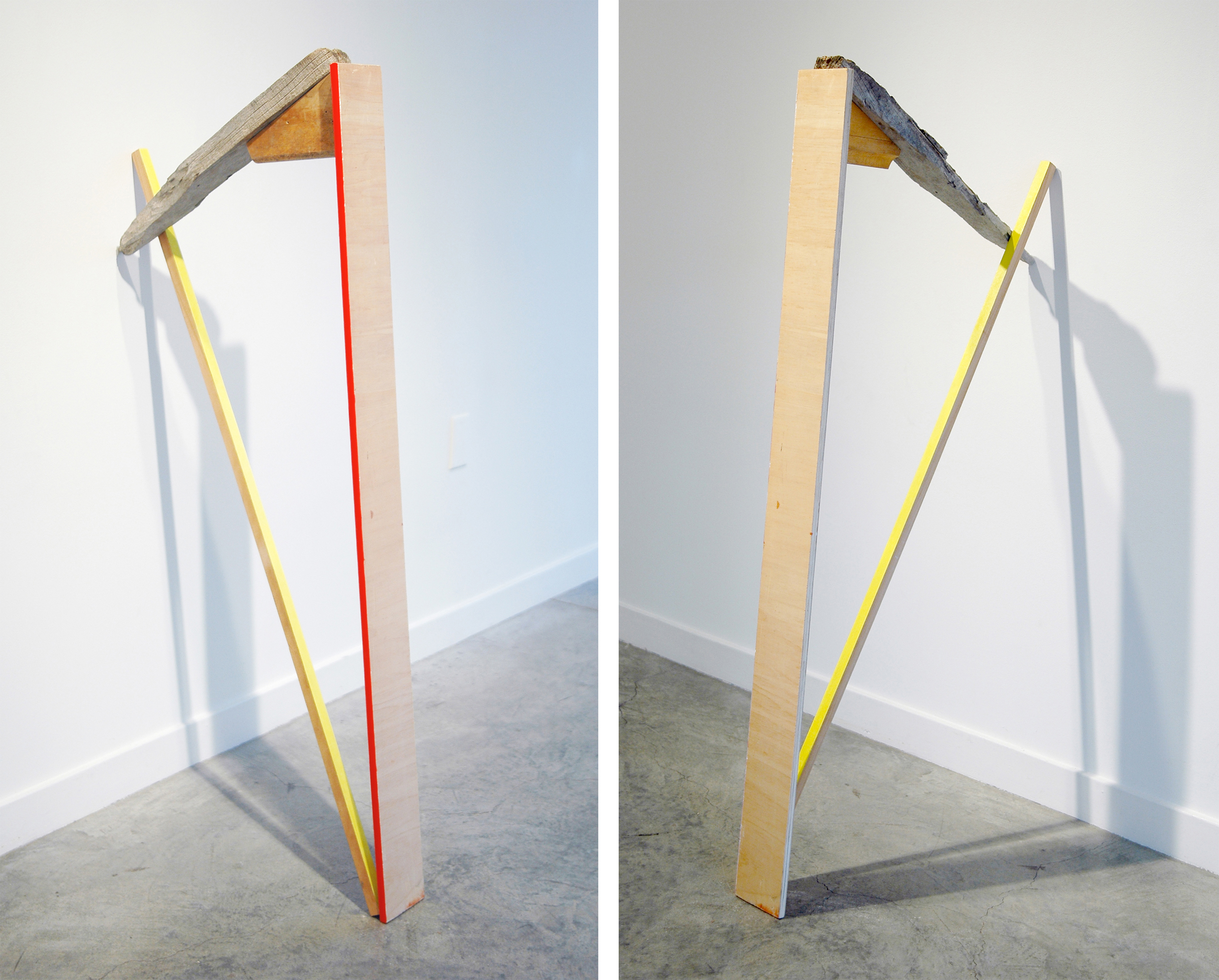 """KIRK STOLLER   Untitled (harp) , wood, acrylic and resin, 48"""" x 23"""" x 5"""""""