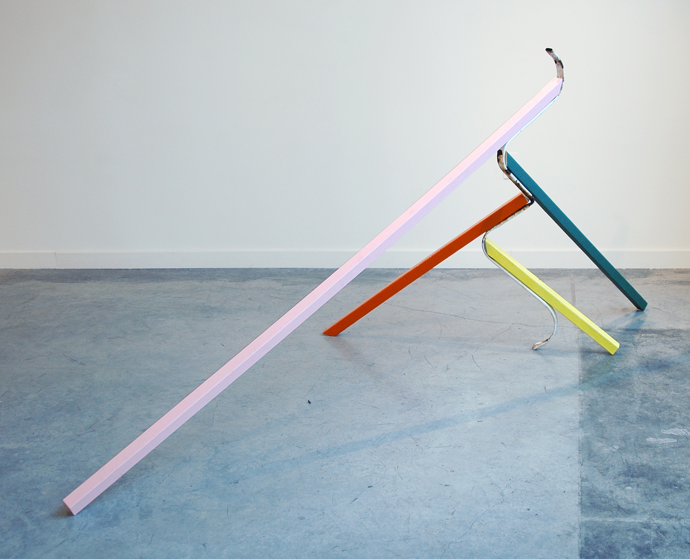 """KIRK STOLLER   Untitled (fountain) , wood, acrylic, metal and resin, 97"""" x 40"""" x 41"""""""