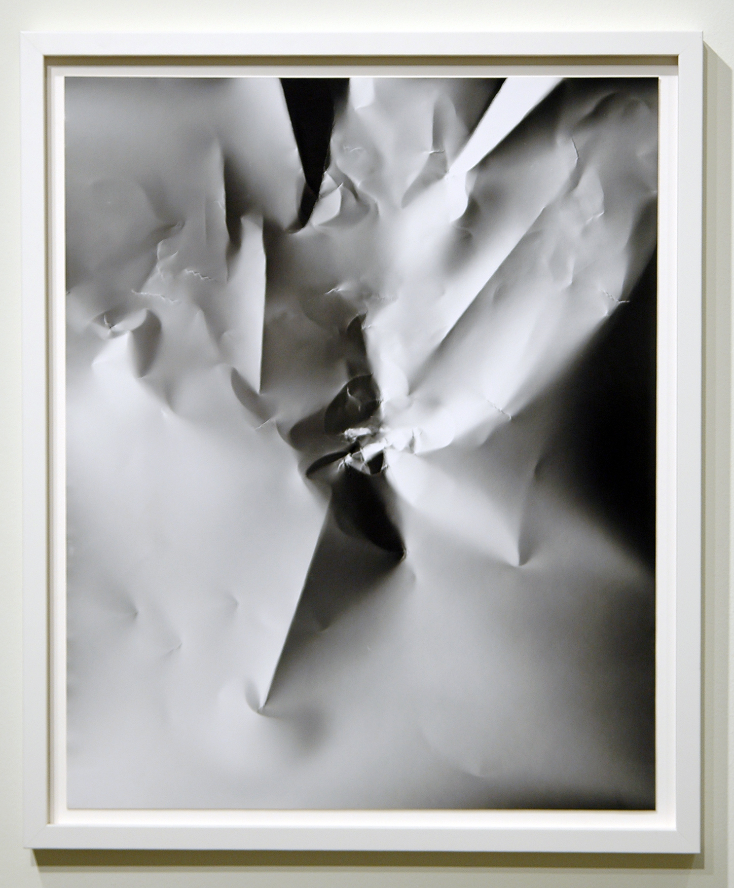 "WITH CINDER BLOCKS WE FLATTEN OUR PHOTOGRAPHS  C. Wright Daniel, Untitled (Profile Portrait) , unique silver gelatin print, 26.5"" x 22"", 2013"