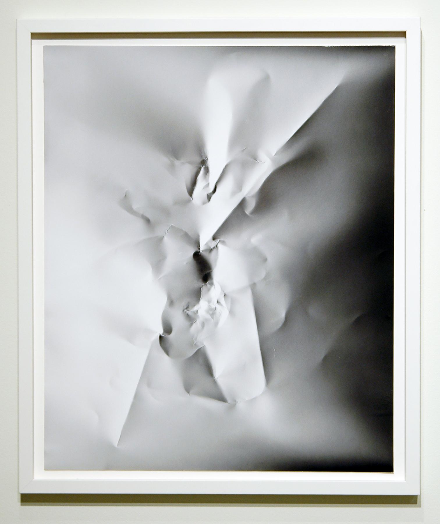 "WITH CINDER BLOCKS WE FLATTEN OUR PHOTOGRAPHS  C. Wright Daniel, Untitled (Portrait) , unique silver gelatin print, 26.5"" x 22"", 2013"