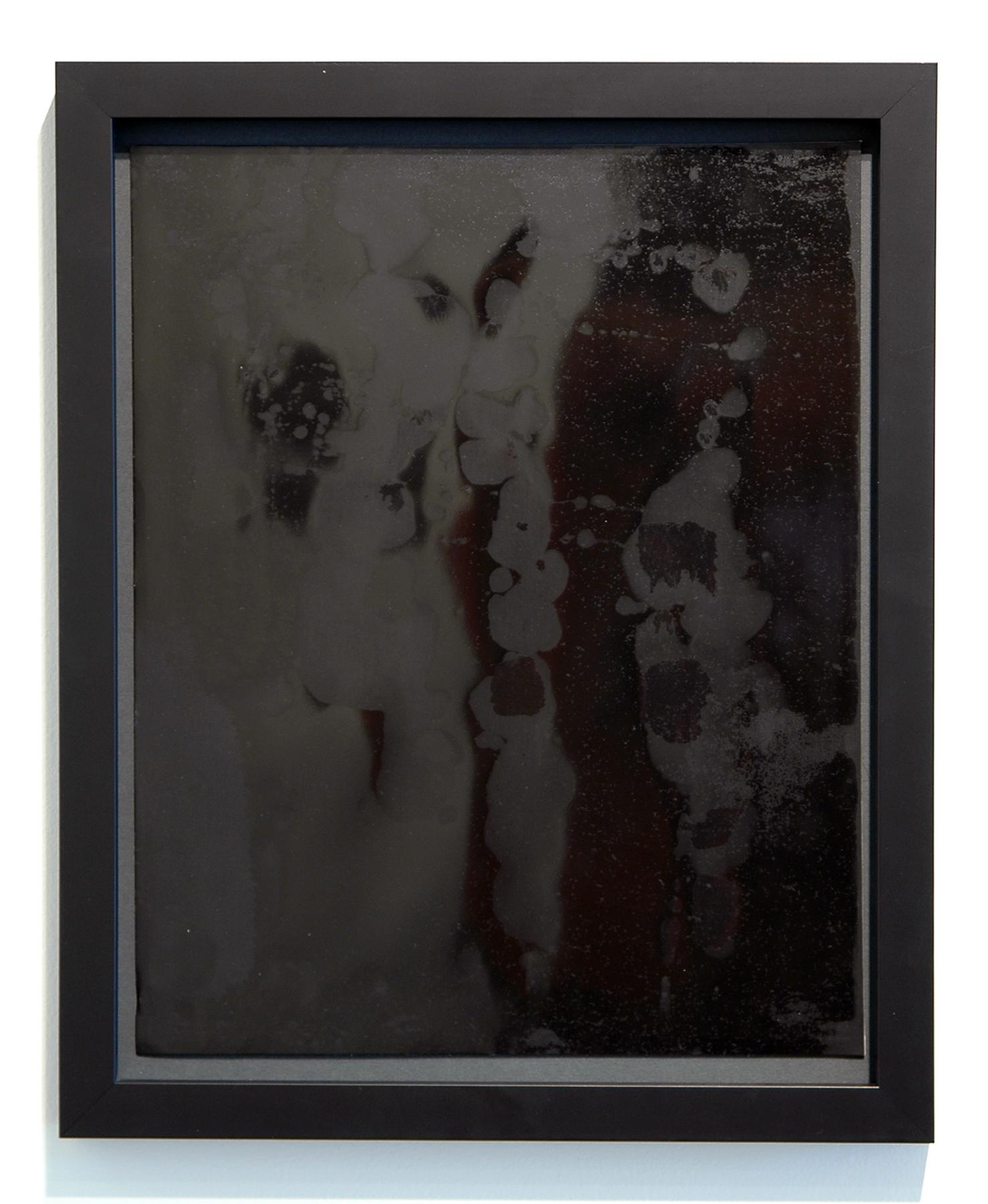 "WITH CINDER BLOCKS WE FLATTEN OUR PHOTOGRAPHS  C. Wright Daniel, Untitled (Burnished 3) , unique silver gelatin print, 16.25"" x 13.25"" (framed), 2013"