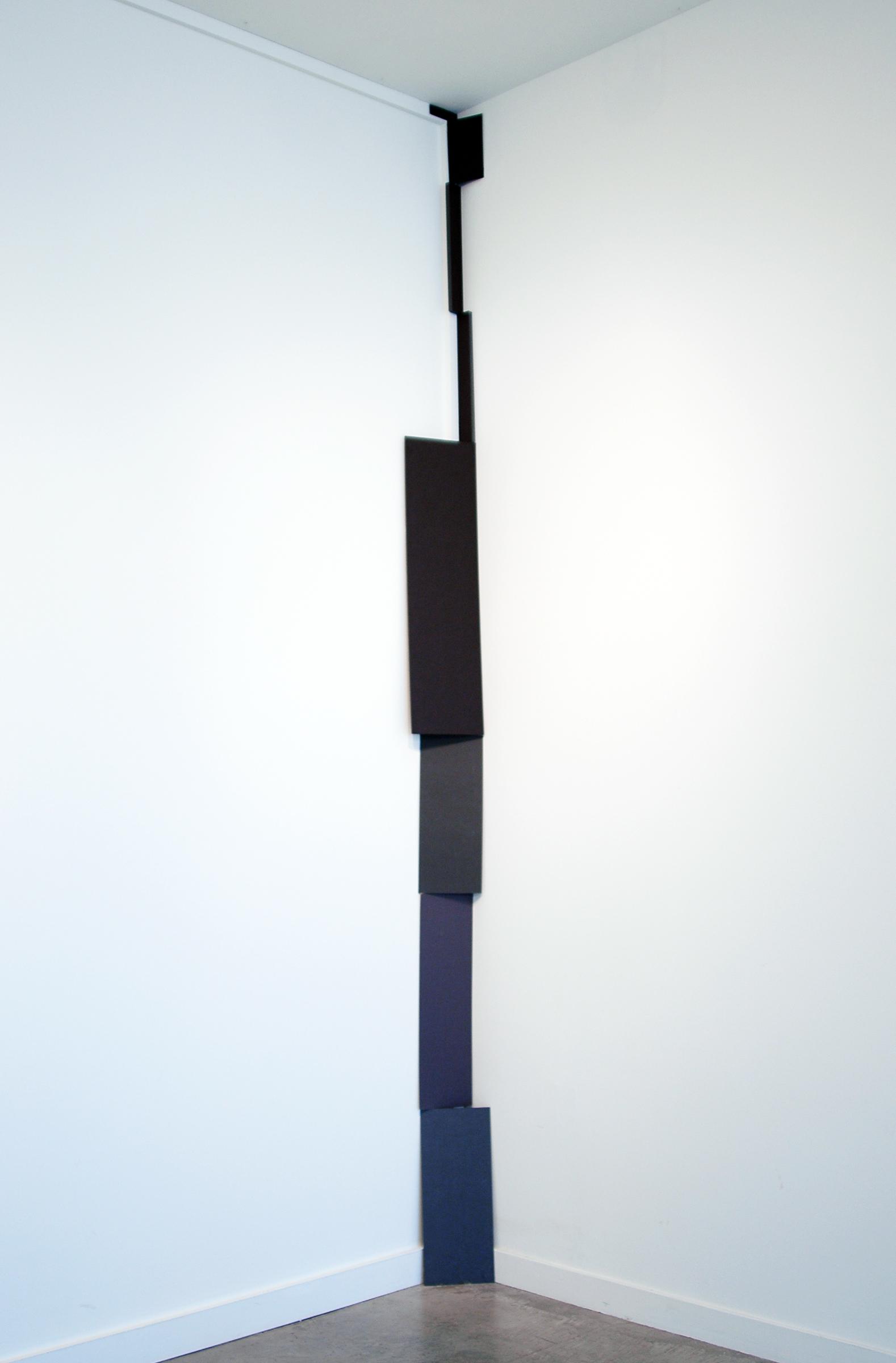 """ALICE CATTANEO   Colonna , 2013, foam borad, paper, tape, 10' x 8.25"""" x 4"""""""