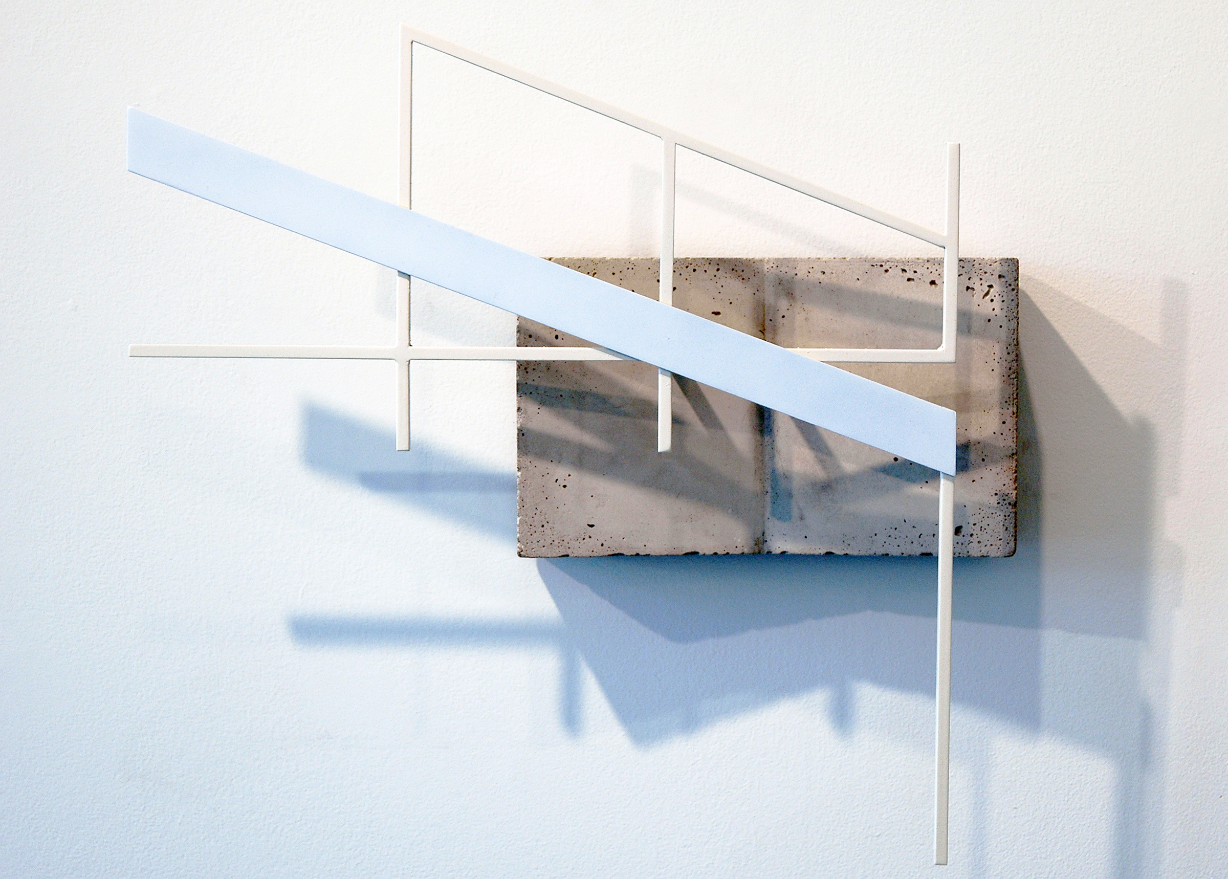 "JONATHAN RUNCIO   Untitled , concrete, steel and enamel, 15.75"" x 17.25"" x 4.25"", 2013"