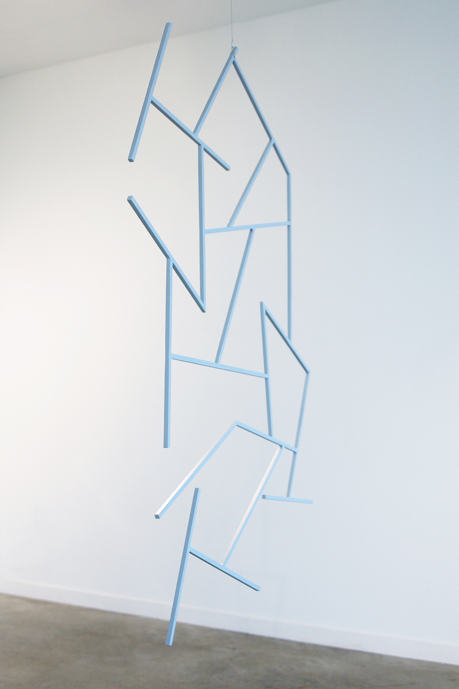 "JONATHAN RUNCIO  (side view)  Untitled (Impression) , steel and primer, 48.5"" x 35"", 2013"
