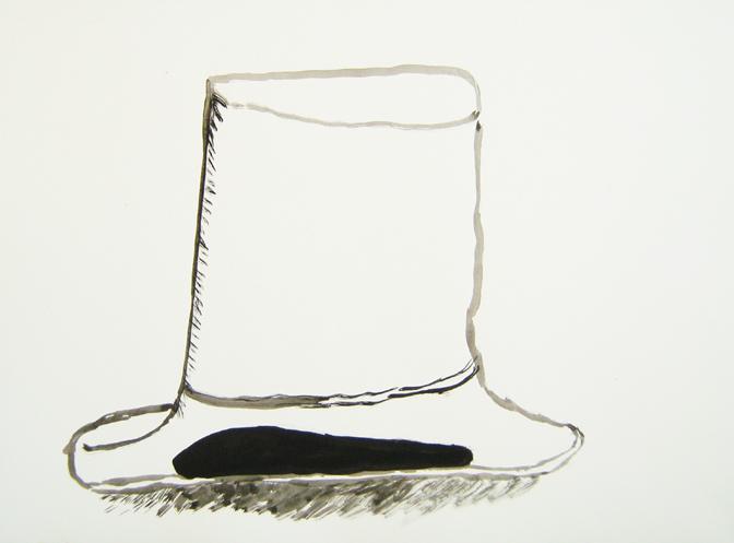 "CHRISTOPH ROßNER   Untitled , india ink on paper, 11.75"" x15.75"", 2010"