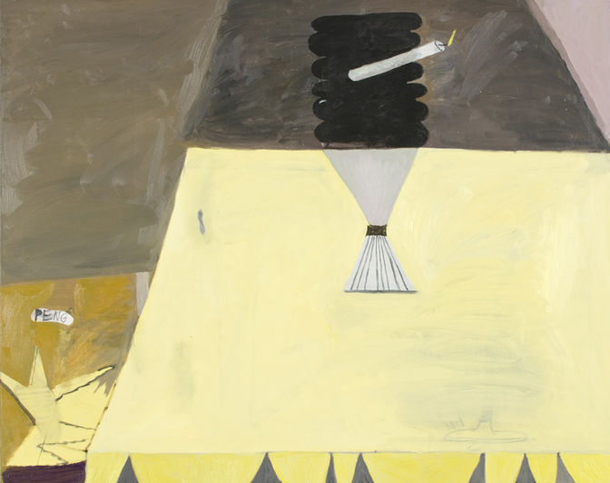 "CHRISTOPH ROßNER   Peng  (Bang), oil and acrylic on canvas, 31.5"" x 39"", 2012"