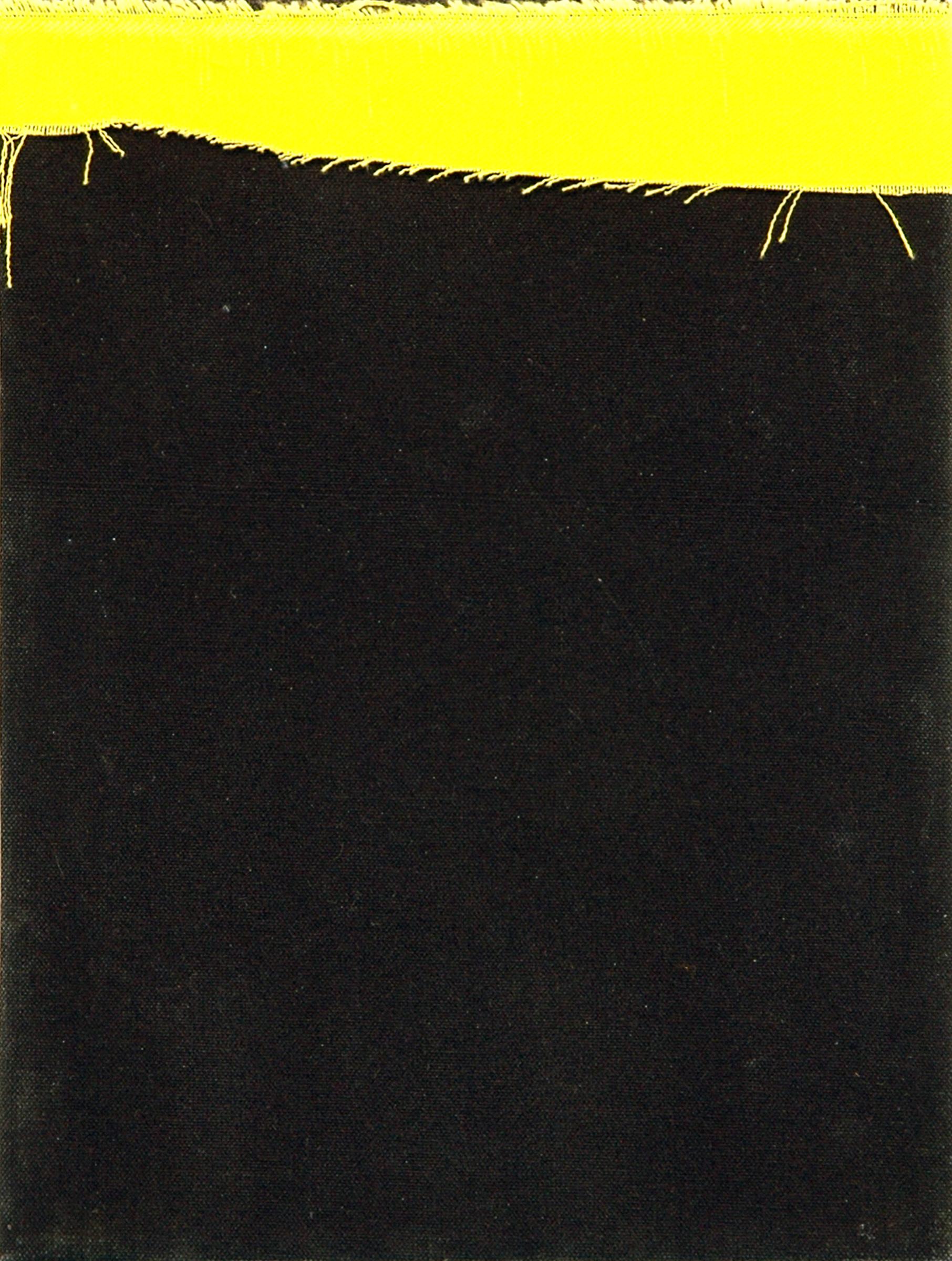 """AMANDA CURRERI   Balance of Power , dyed fabric, 12"""" x 9"""", 2012"""