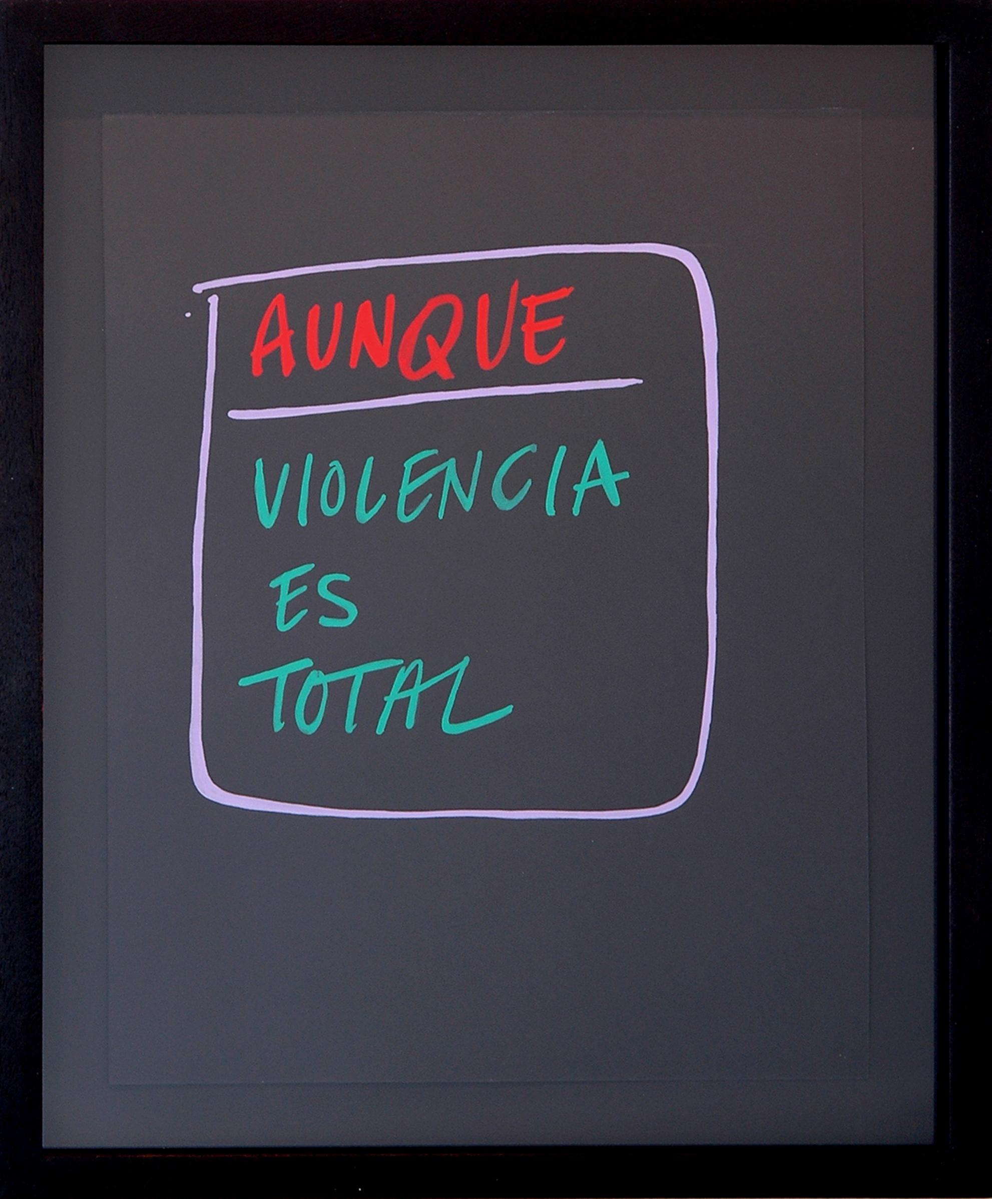 "AMANDA CURRERI   Aunque, Violencia es Total , gouache on paper, 14.75"" x 11.75"", 2012"