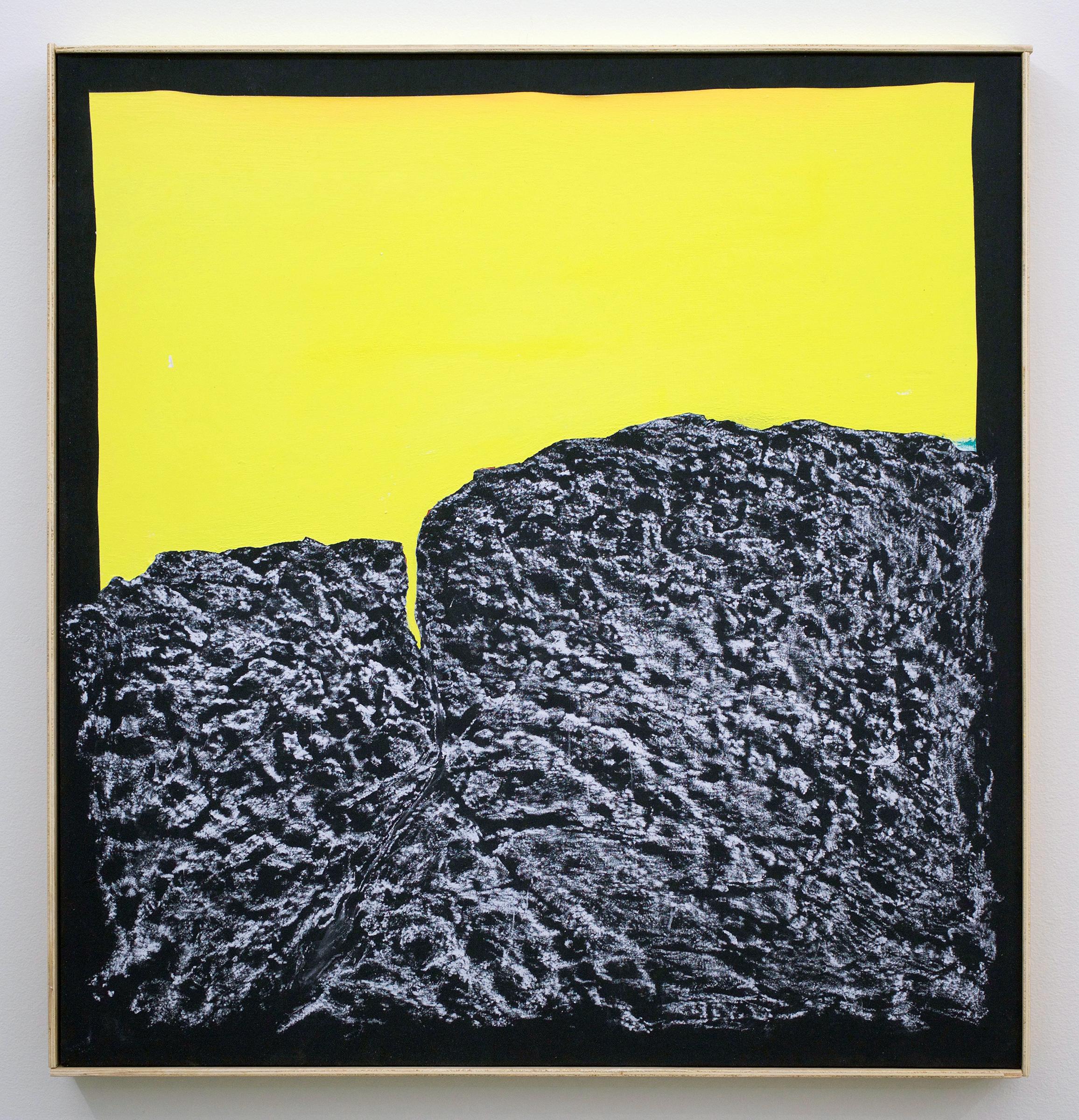 "CHRIS DUNCAN   Midday – Angles Landing, Zion Canyon Utah, April 4, 2017 , 2017, acrylic and crayon on fabric, 27 1/2"" x 26 1/2"""