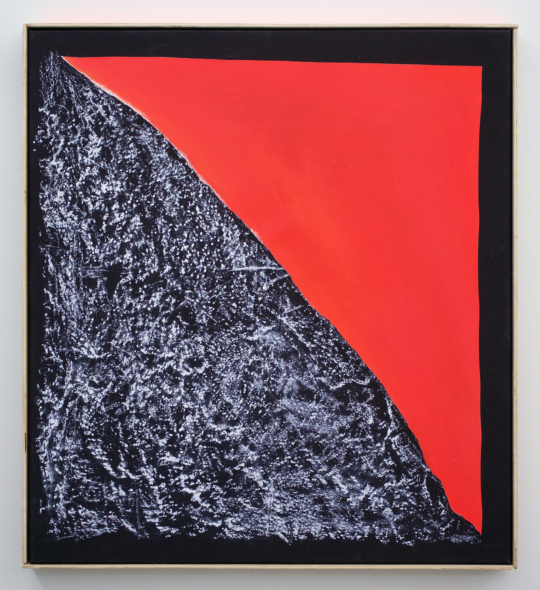 "CHRIS DUNCAN   Sunset – Angles Landing, Zion Canyon Utah, April 5, 2017 , 2017, acrylic and crayon on fabric, 27 1/2"" x 26 1/2"""
