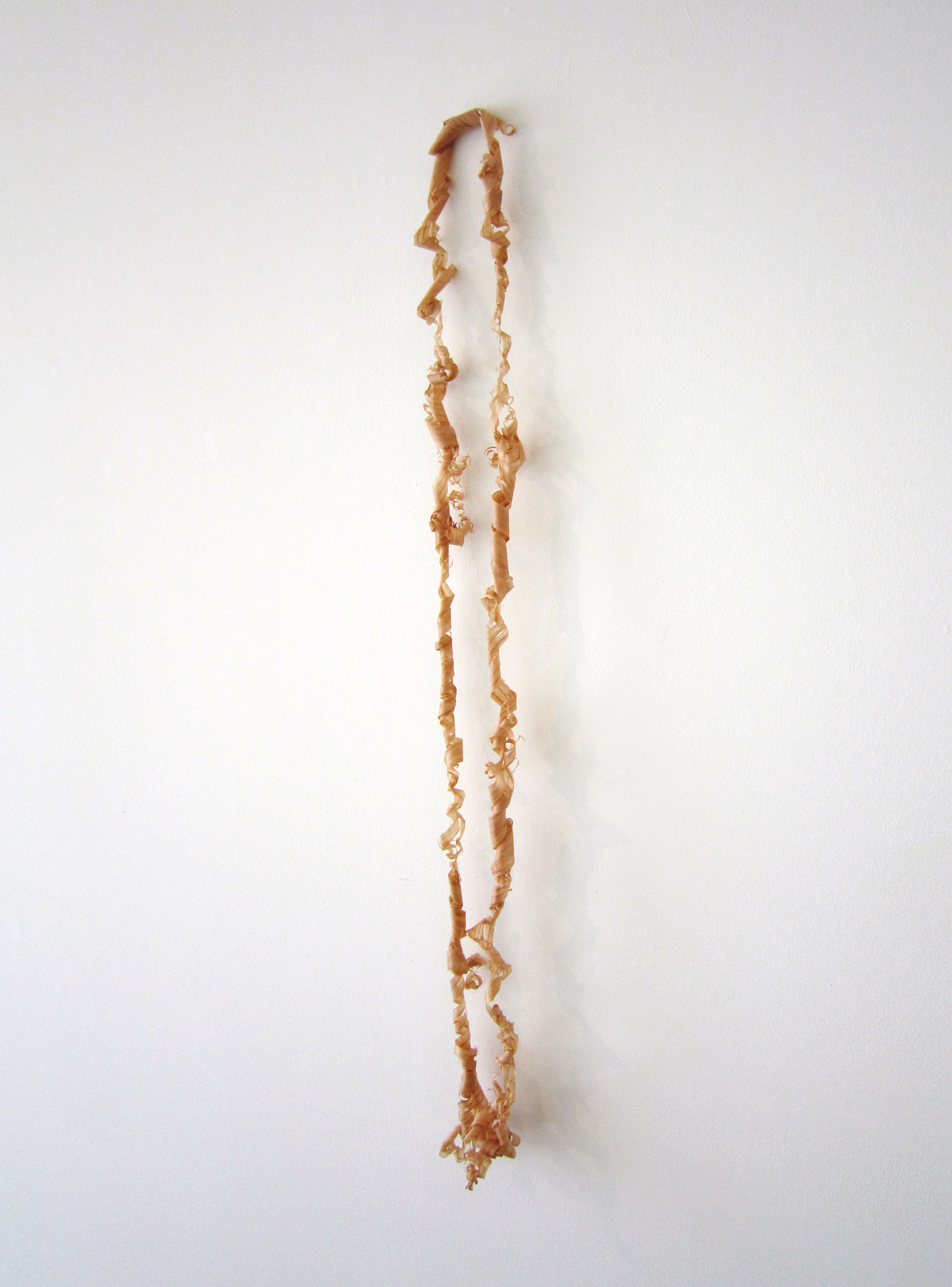 "MOLLY SMITH   Flow, 2013, cedar, 22"" x 1.25"" x 2"""