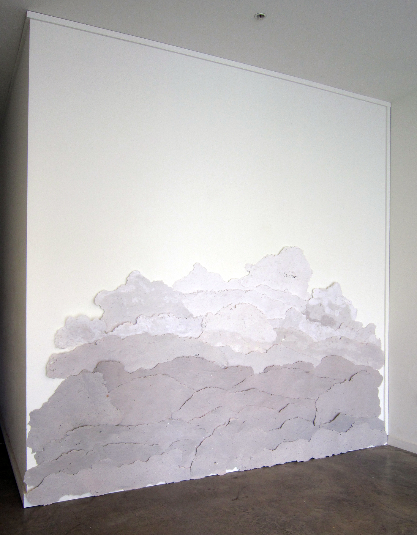 "MOLLY SMITH   Mist,  2013, handmade, repurposed paper and nails, 120"" x 72"""